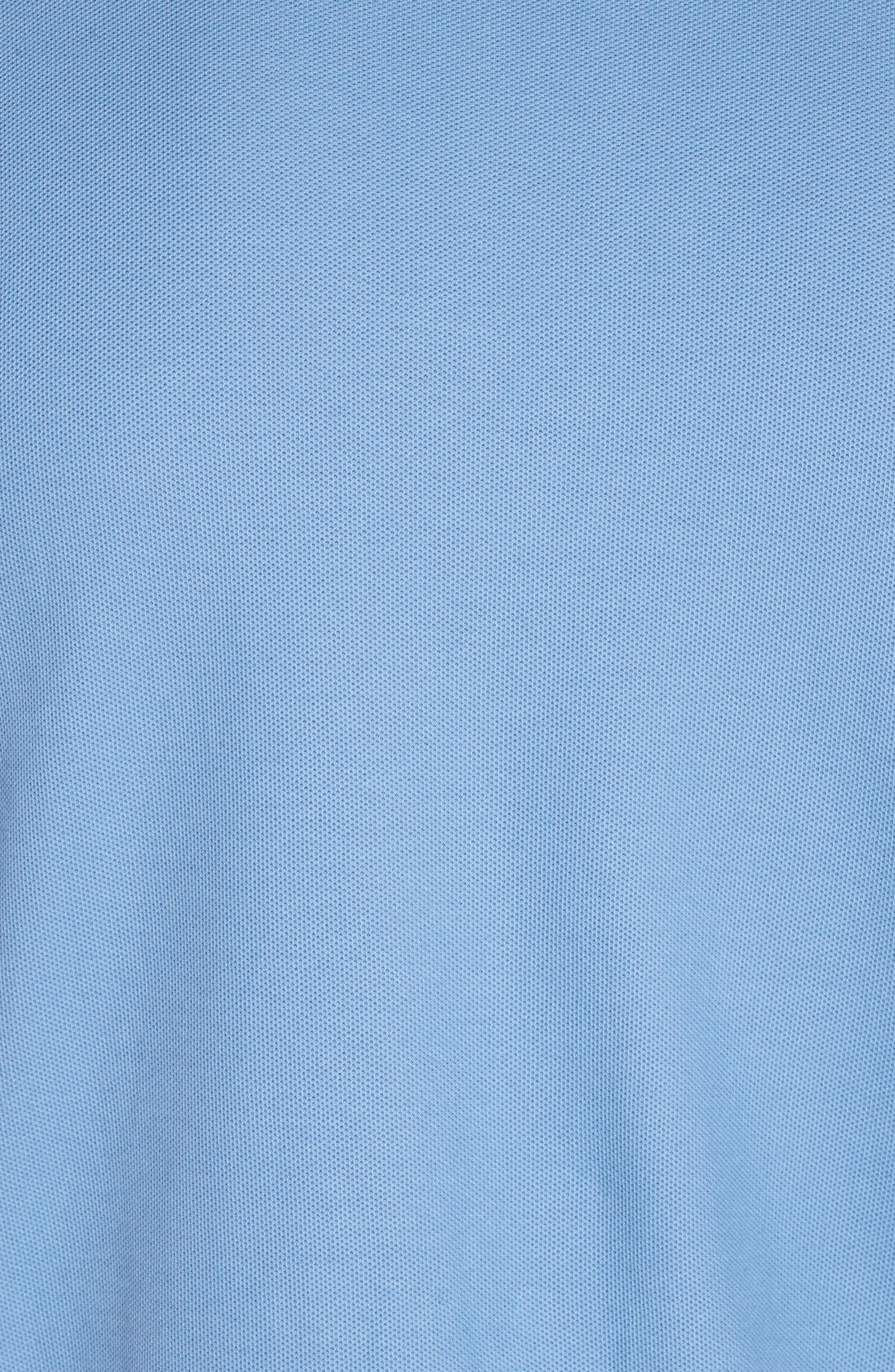 Belwe Relaxed Fit Piqué Polo,                             Alternate thumbnail 5, color,                             Railroad Blue
