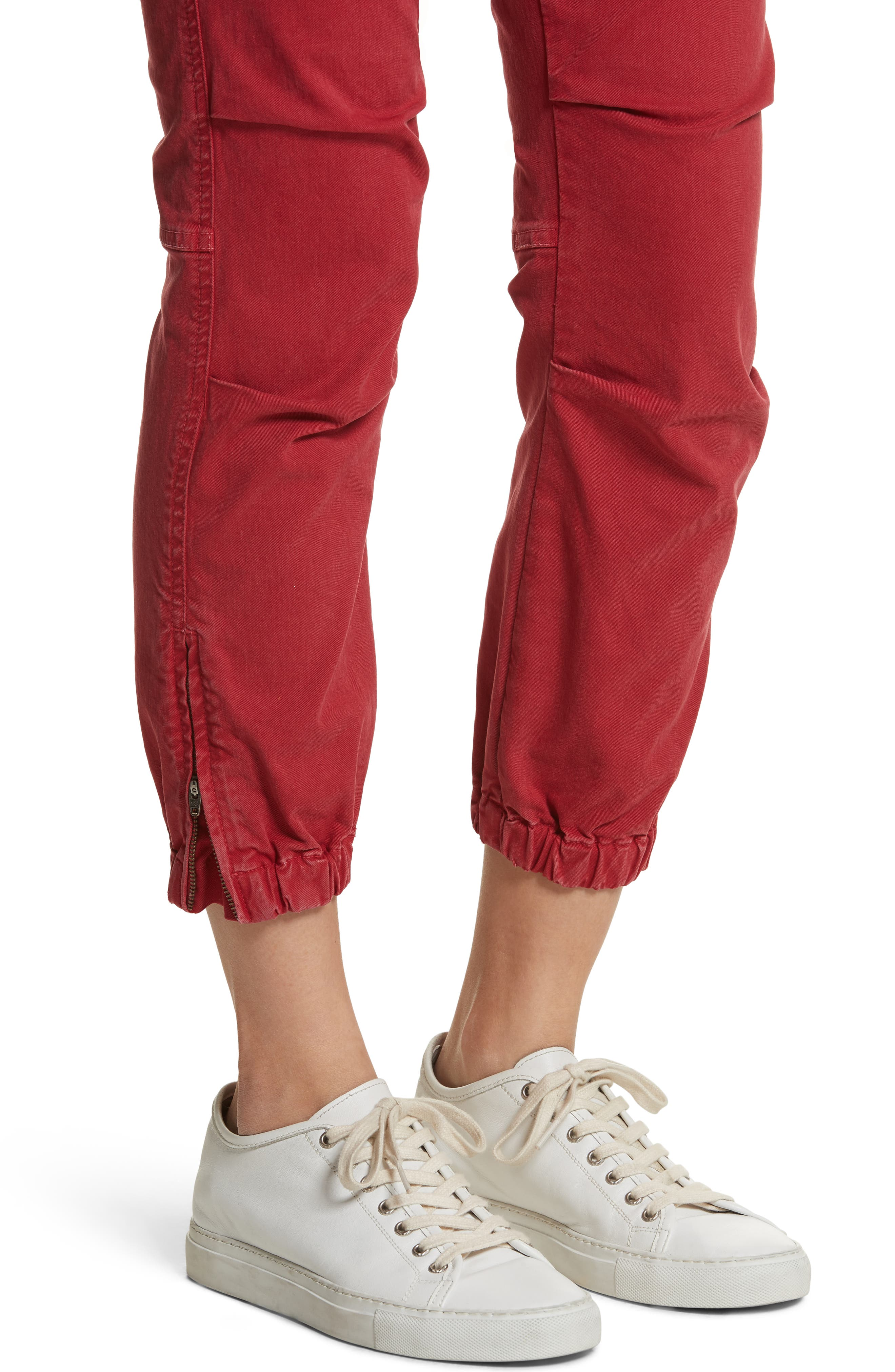 Stretch Cotton Twill Crop Military Pants,                             Alternate thumbnail 4, color,                             Sun Kissed