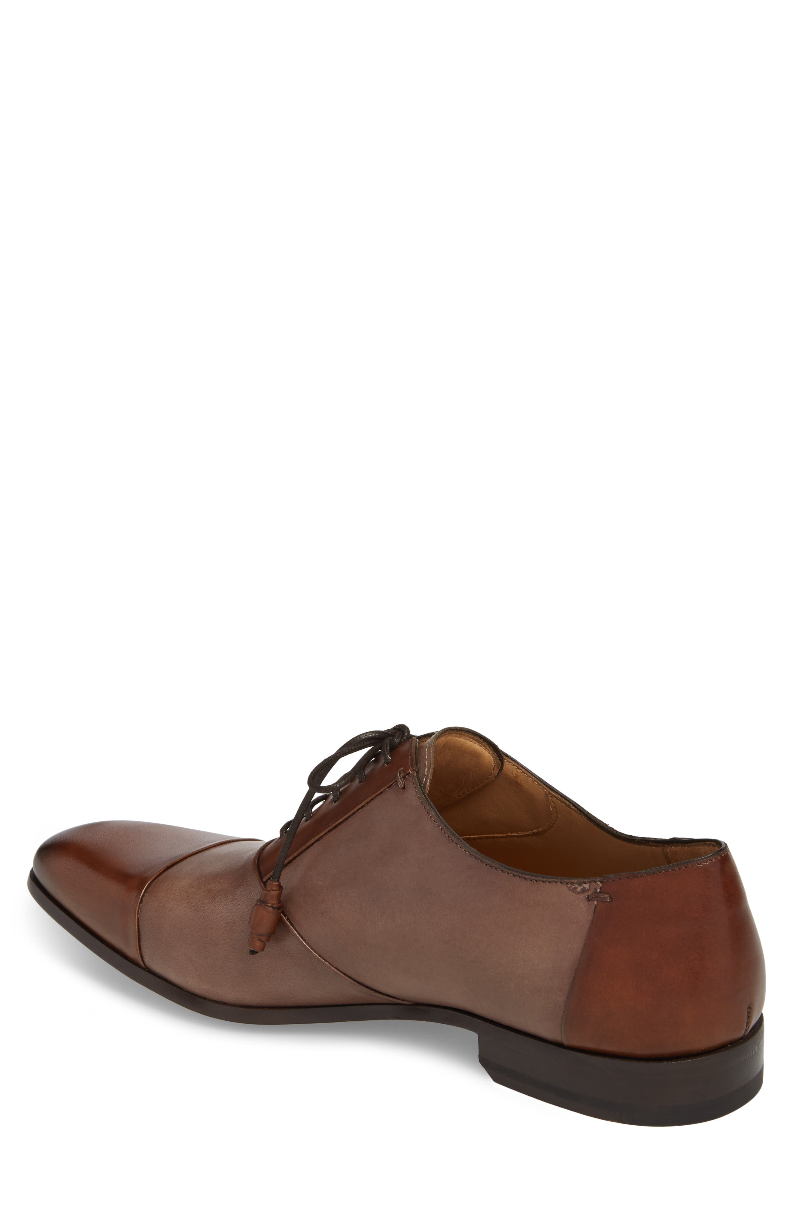 Julius Spectator Oxford,                             Alternate thumbnail 2, color,                             Cognac/ Taupe Leather
