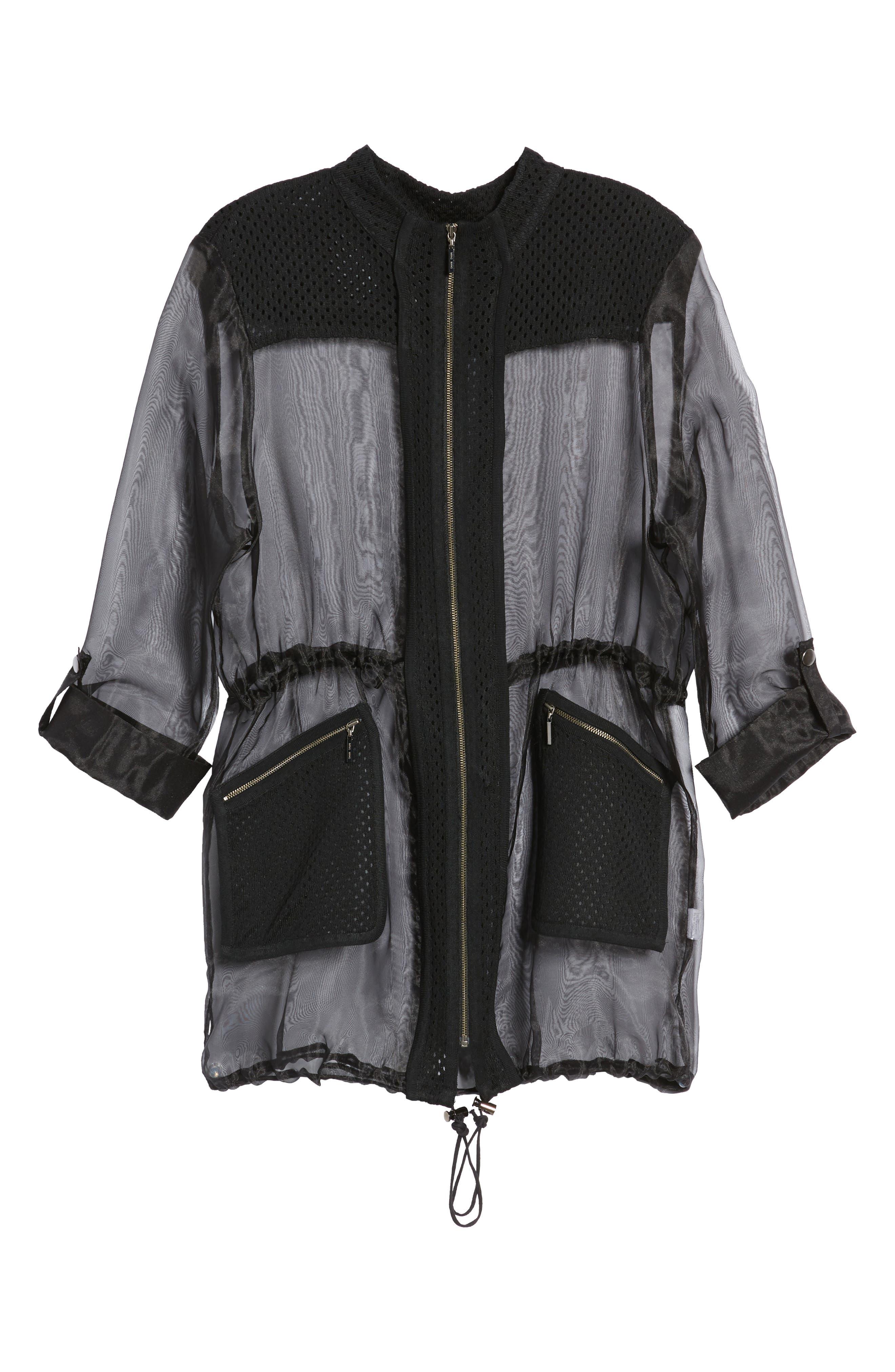 Sheer Jacket,                             Alternate thumbnail 6, color,                             Black