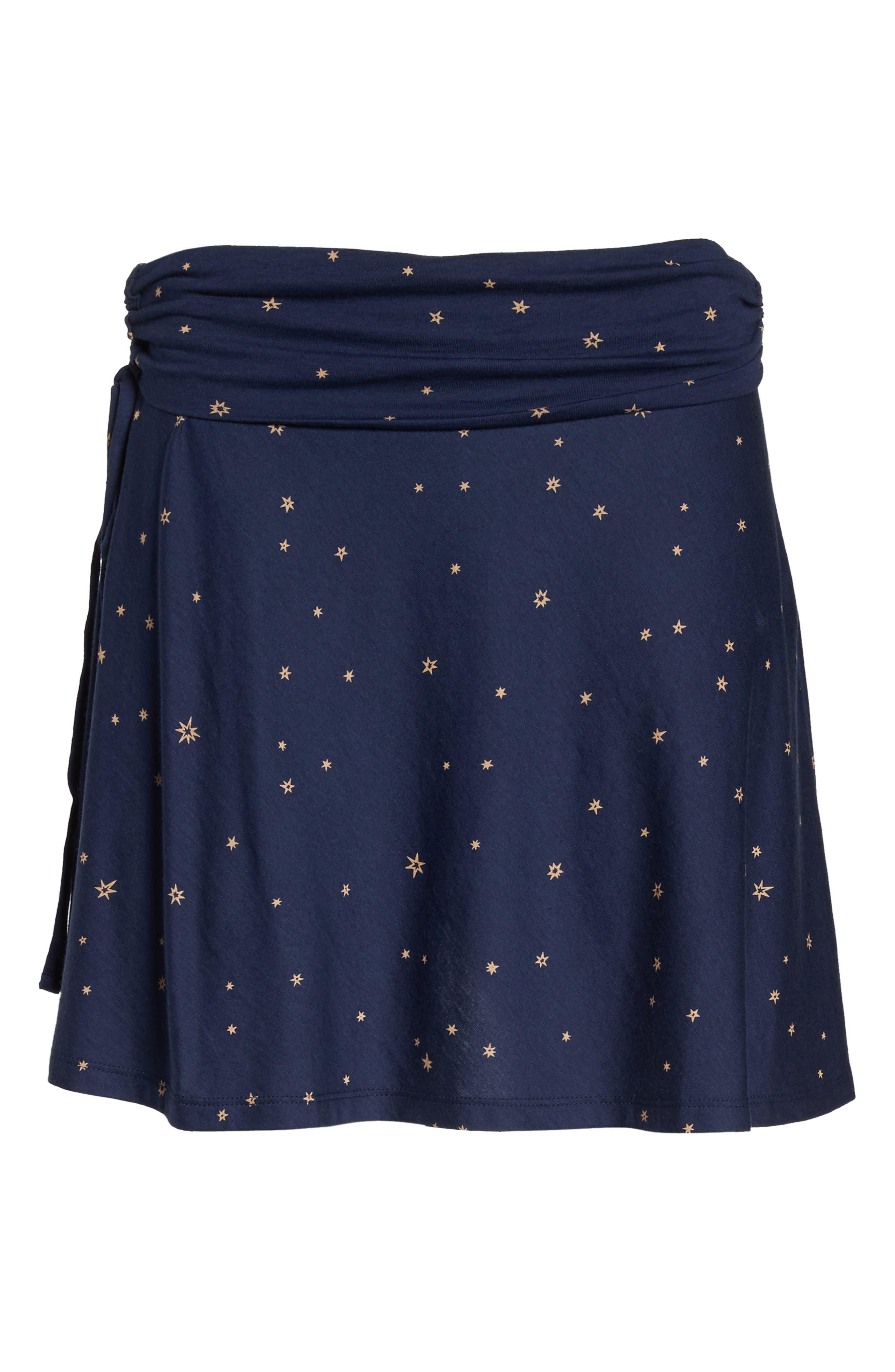 Lithia Cotton Blend Skirt,                             Alternate thumbnail 7, color,                             Micr Mica Pop Classic Navy