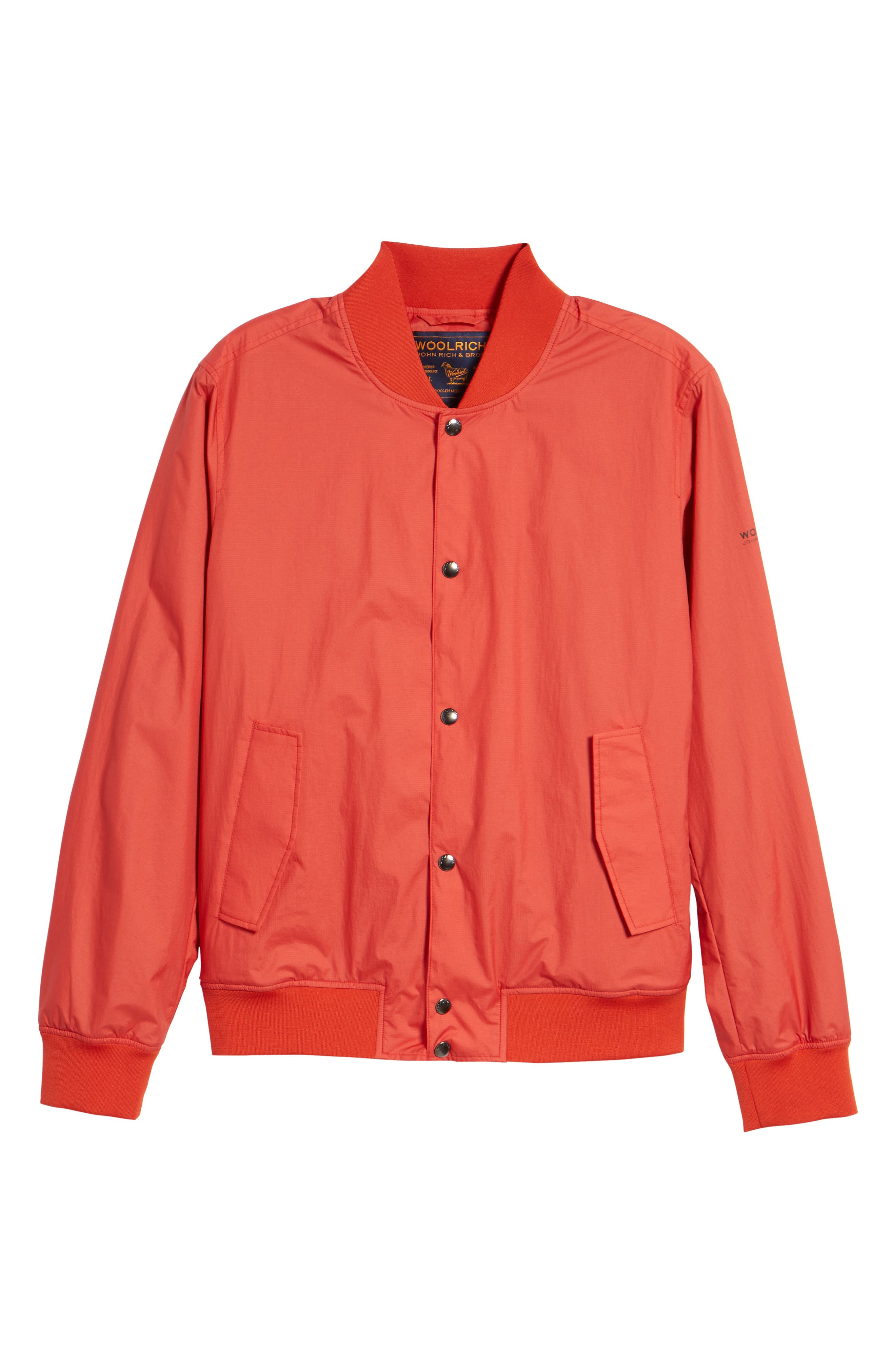 Wallaby Bomber Jacket,                             Alternate thumbnail 6, color,                             Aurora Red