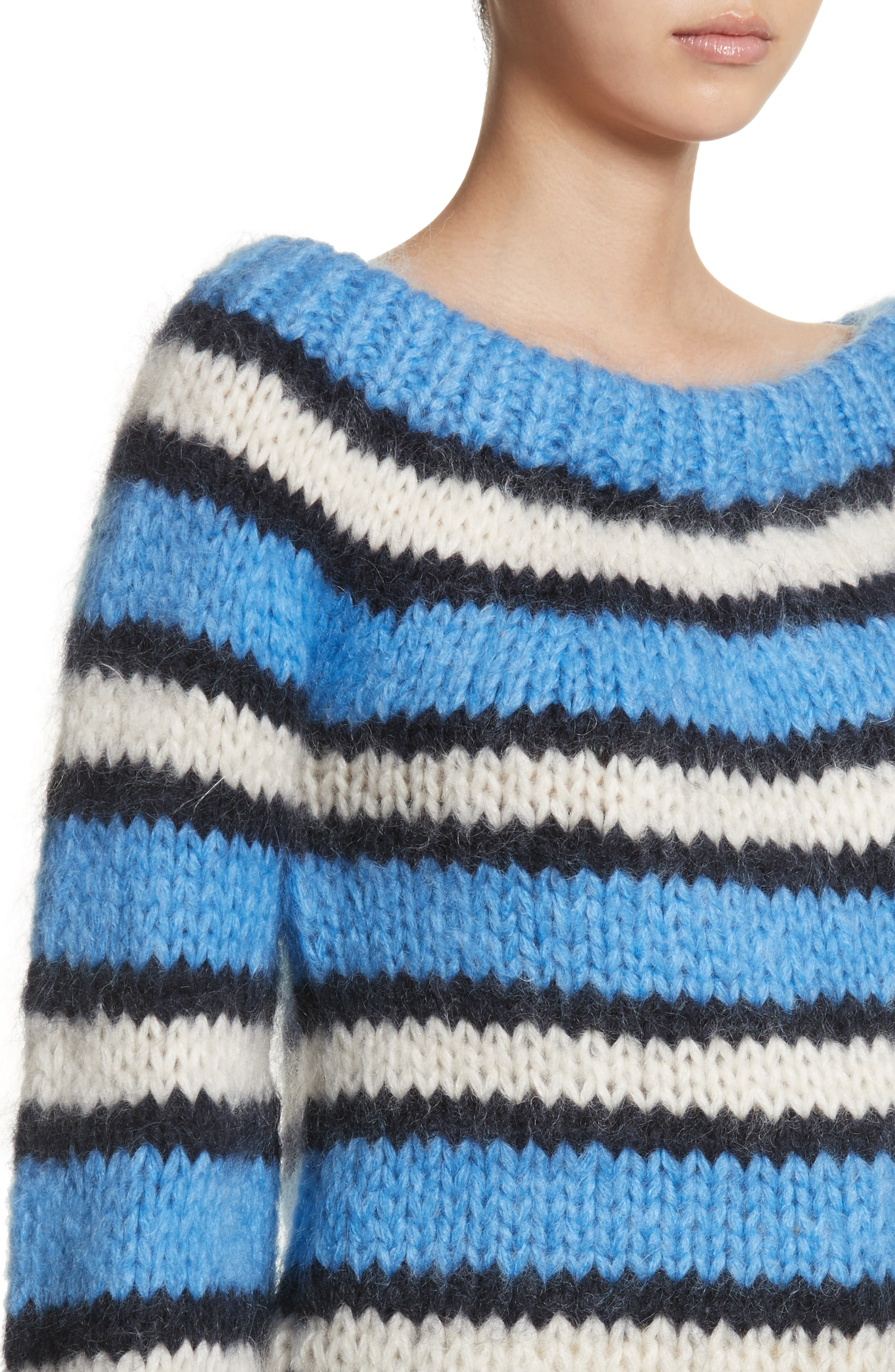 Juilliard Stripe Mohair & Wool Sweater,                             Alternate thumbnail 4, color,                             Block Colour