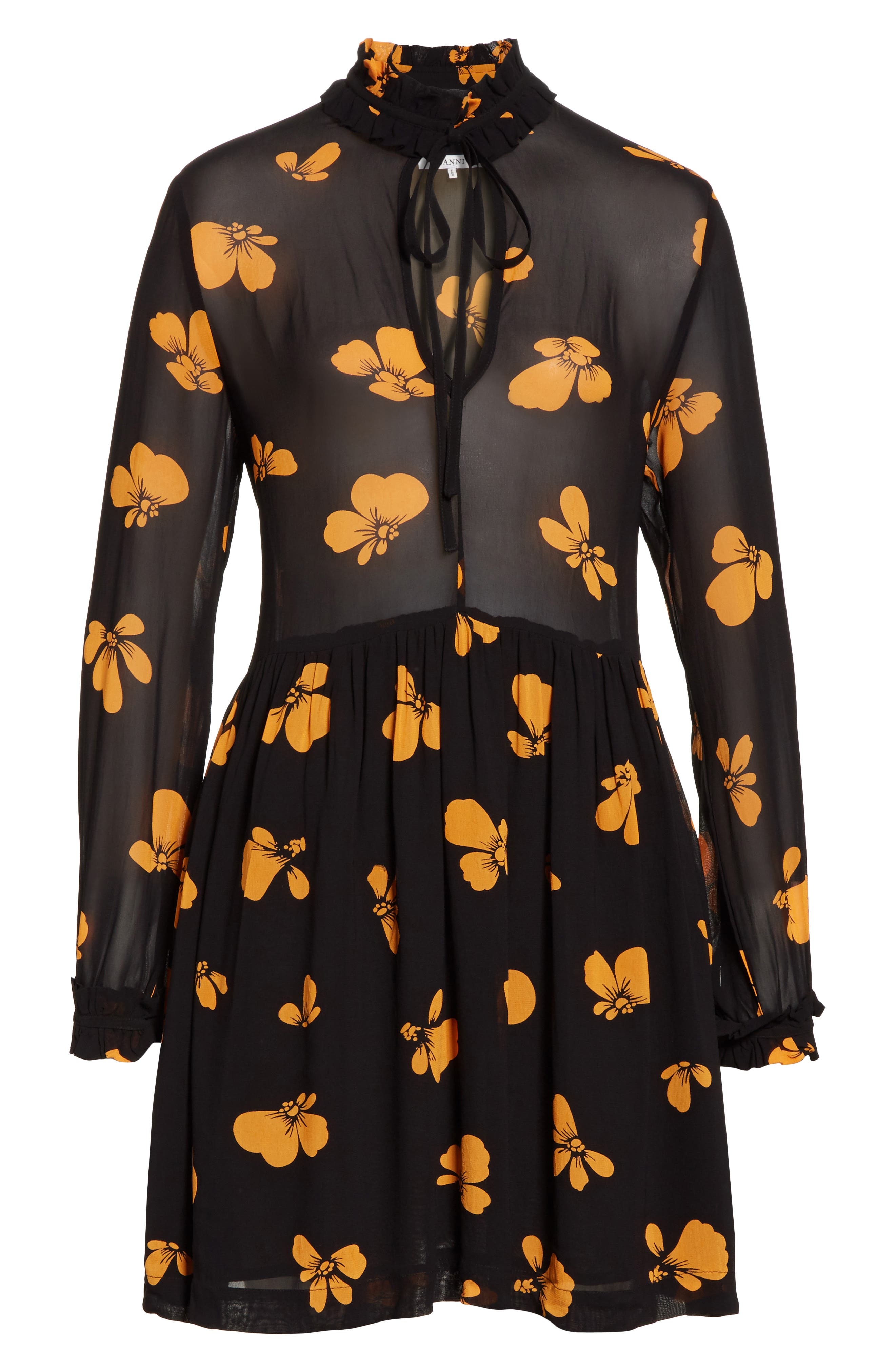 Alternate Image 6  - GANNI Fairfax Georgette Dress