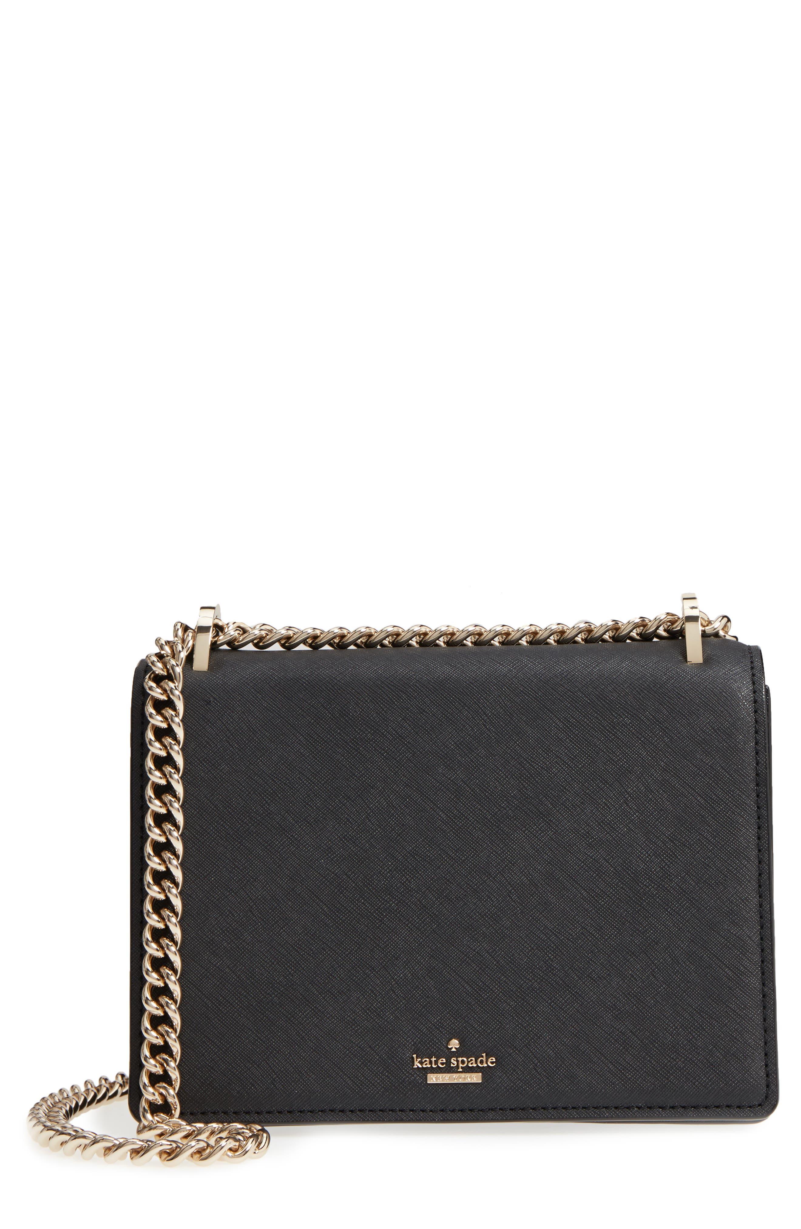 cameron street marci leather shoulder bag,                         Main,                         color, Black