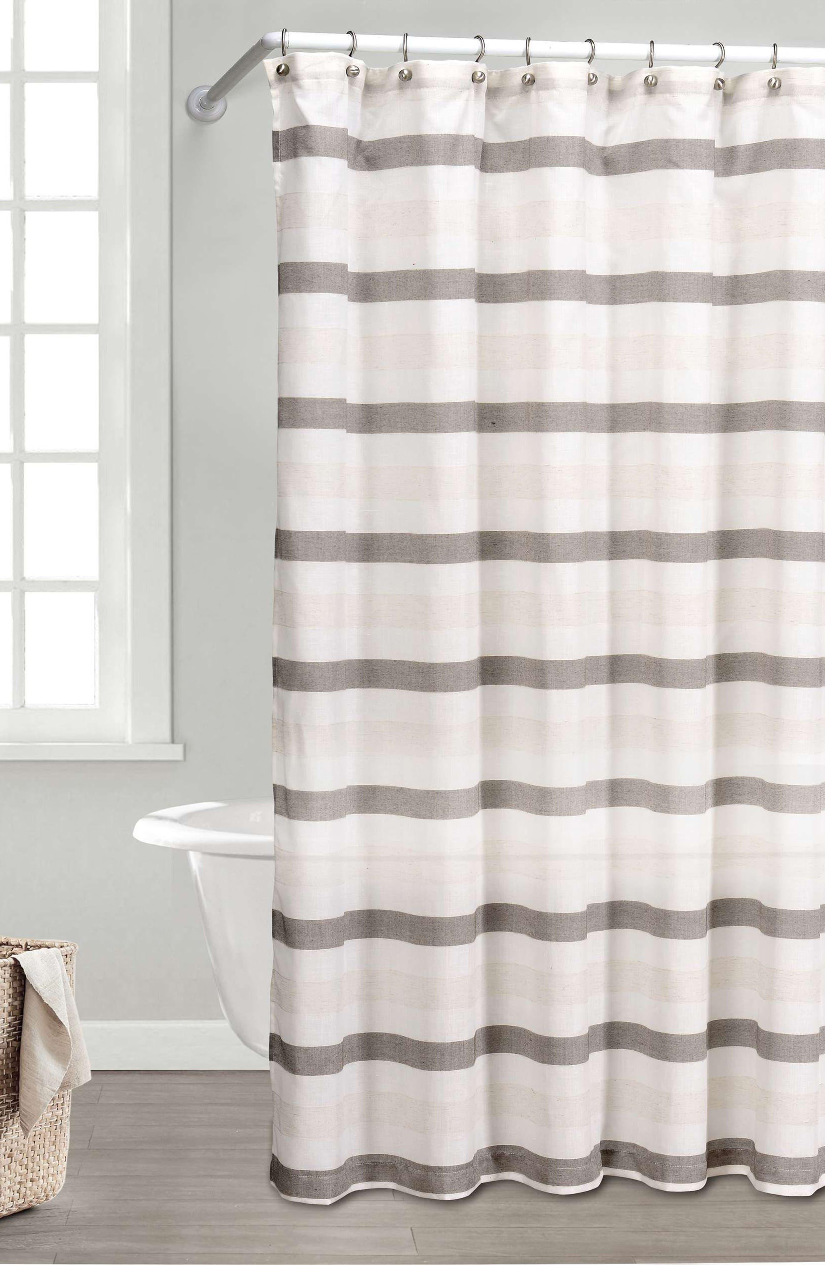 Akua Shower Curtain,                             Main thumbnail 1, color,                             Grey-Linen