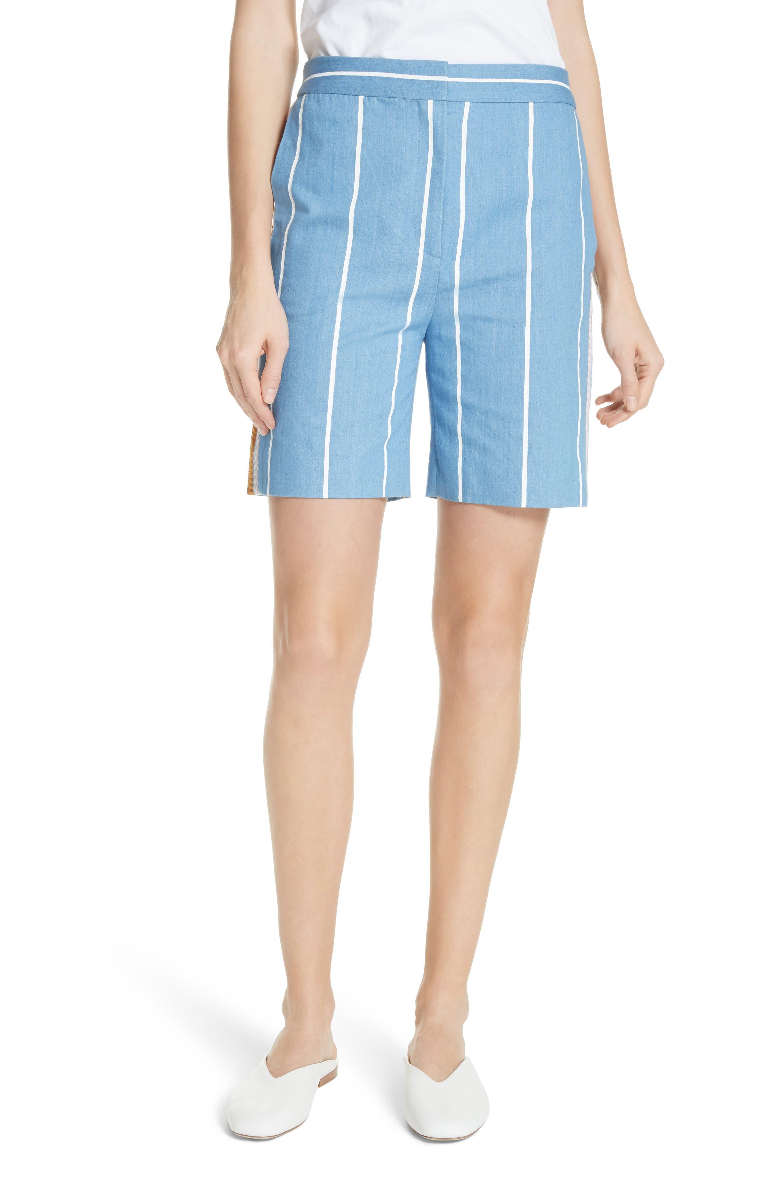 Stripe Slim Shorts,                         Main,                         color, White Stripe