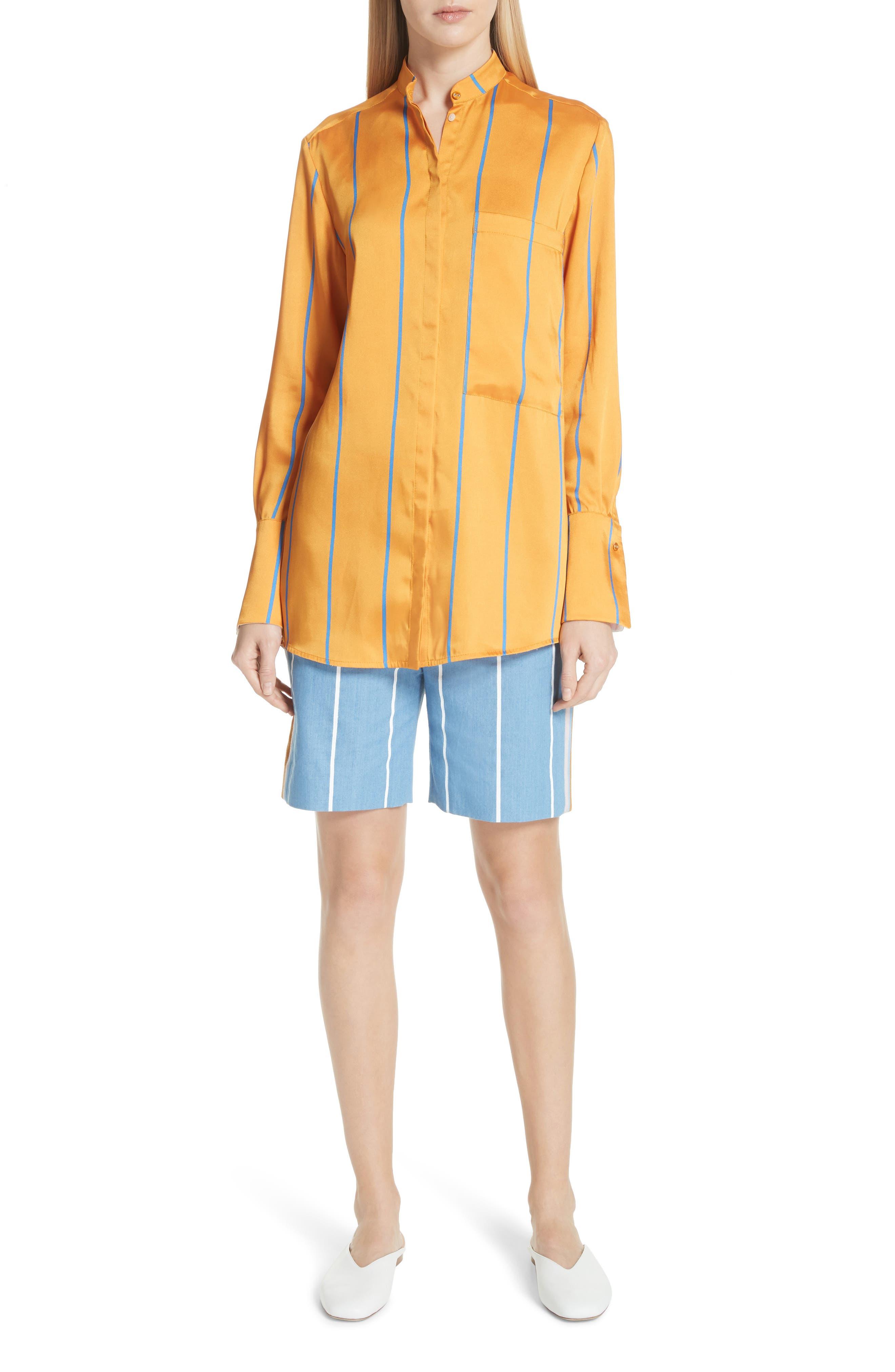 Stripe Slim Shorts,                             Alternate thumbnail 7, color,                             White Stripe