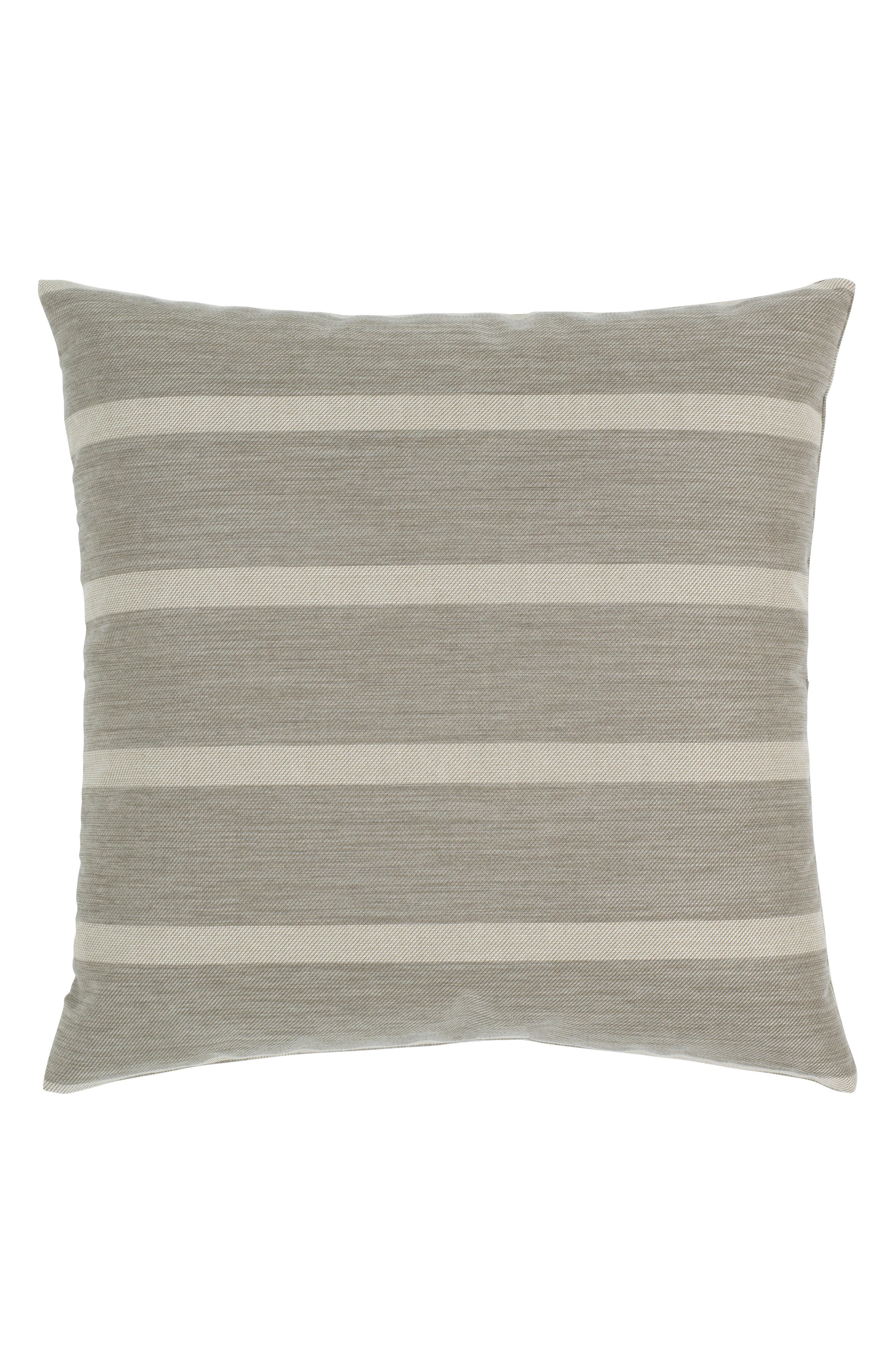 Sparkle Stripe Indoor/Outdoor Accent Pillow,                             Alternate thumbnail 3, color,                             Grey