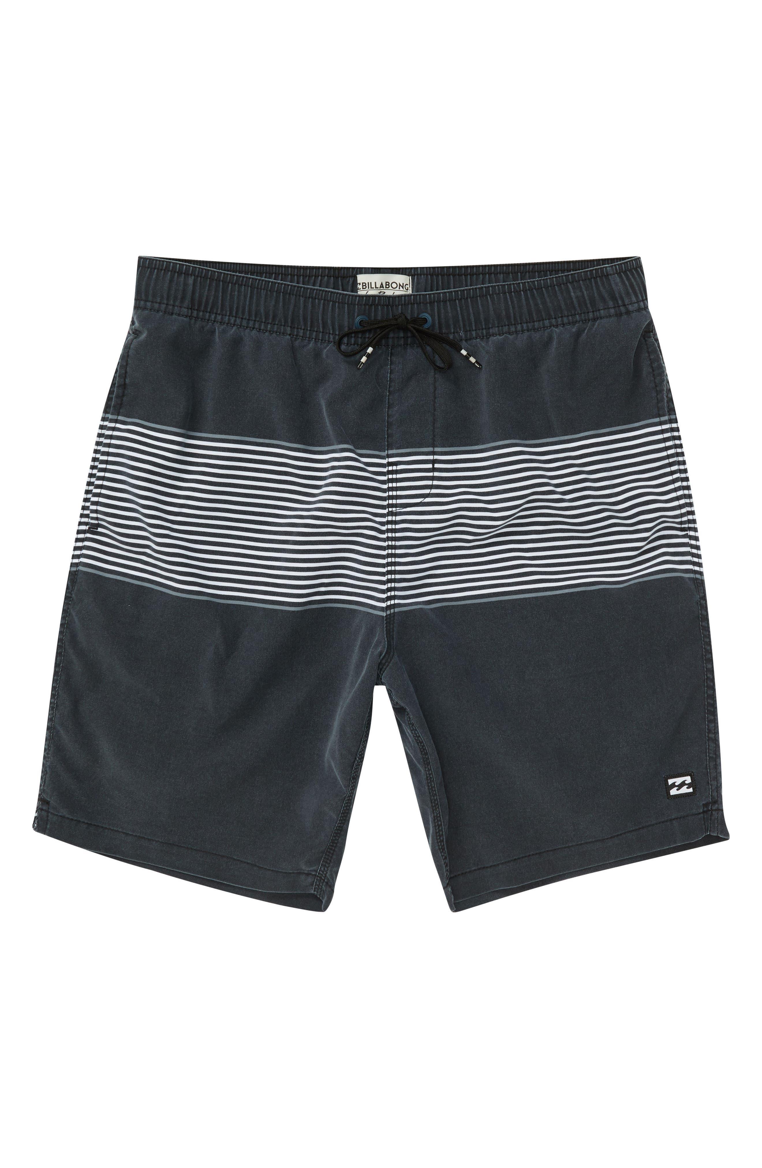 Tribong Swim Trunks,                         Main,                         color, Black