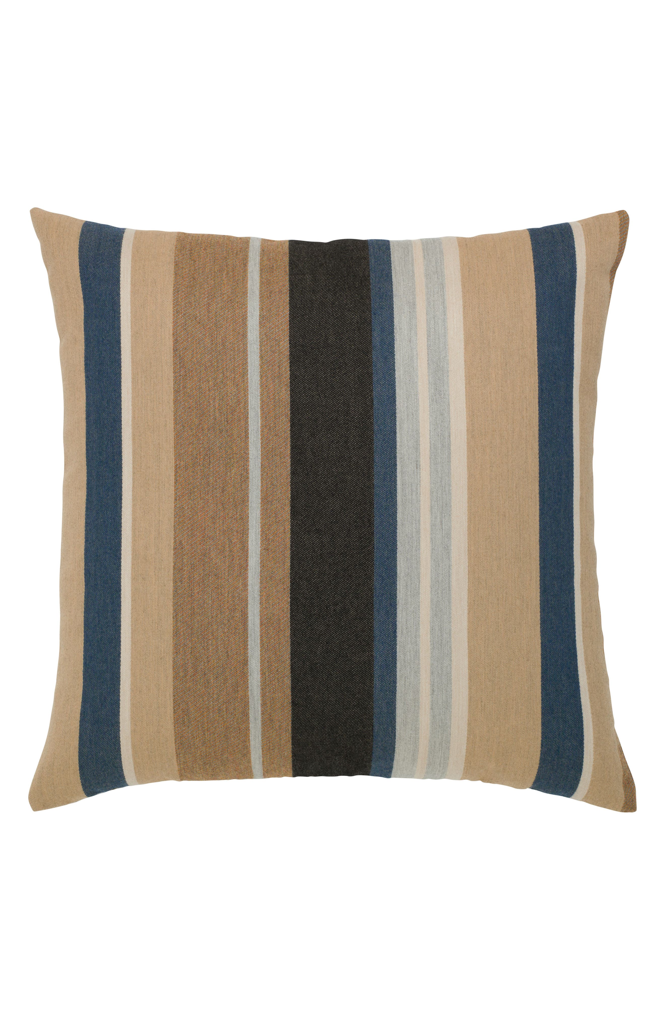 Reflection Indoor/Outdoor Accent Pillow,                             Alternate thumbnail 3, color,                             Brown/ Blue