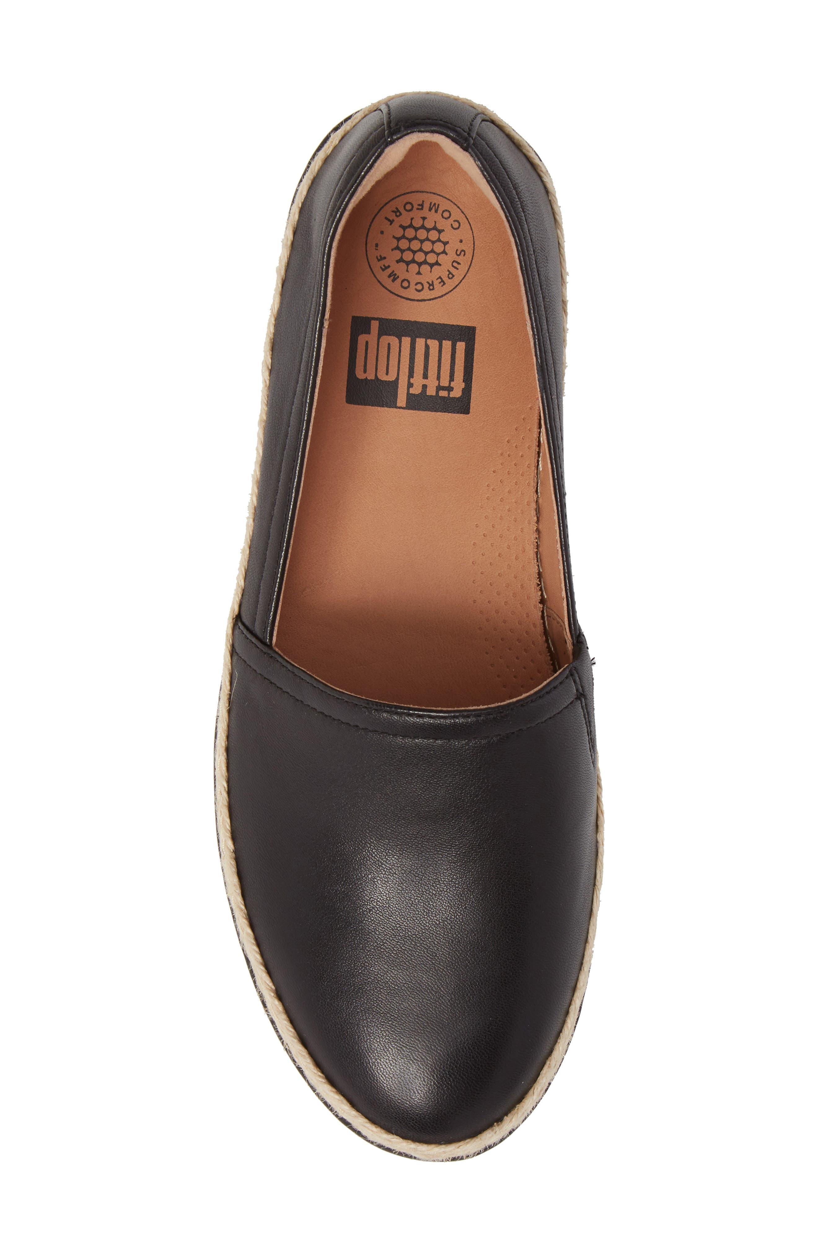 Casa Loafer,                             Alternate thumbnail 5, color,                             Black Leather