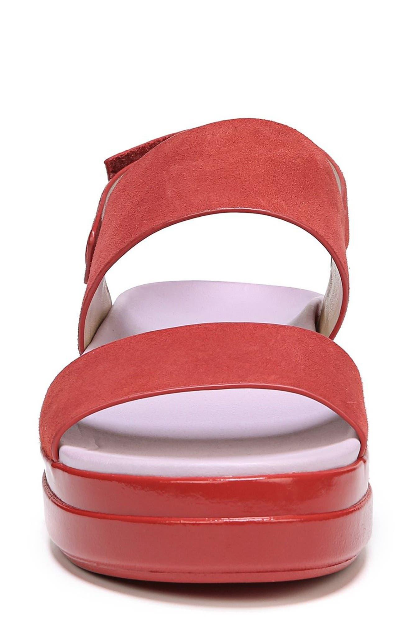 Scout Platform Sandal,                             Alternate thumbnail 4, color,                             Paprika Suede