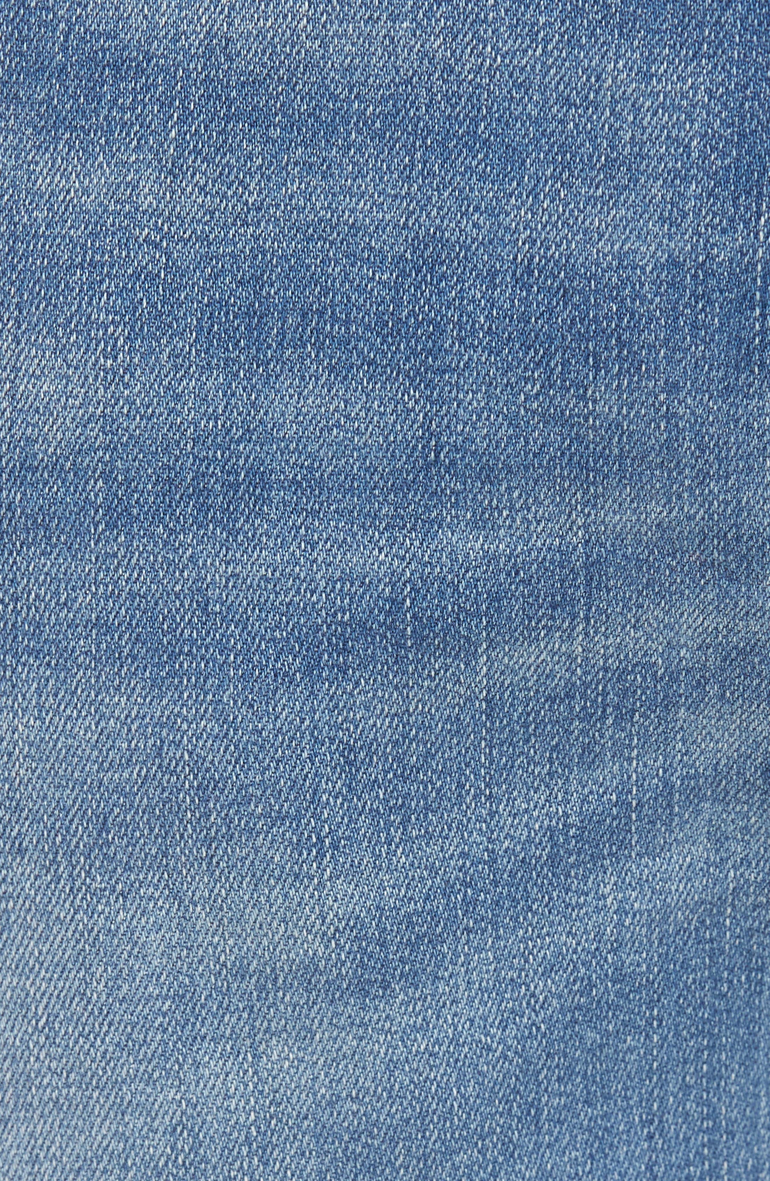 Wight Slim Fit Straight Leg Jeans,                             Alternate thumbnail 5, color,                             Atlantic Blue