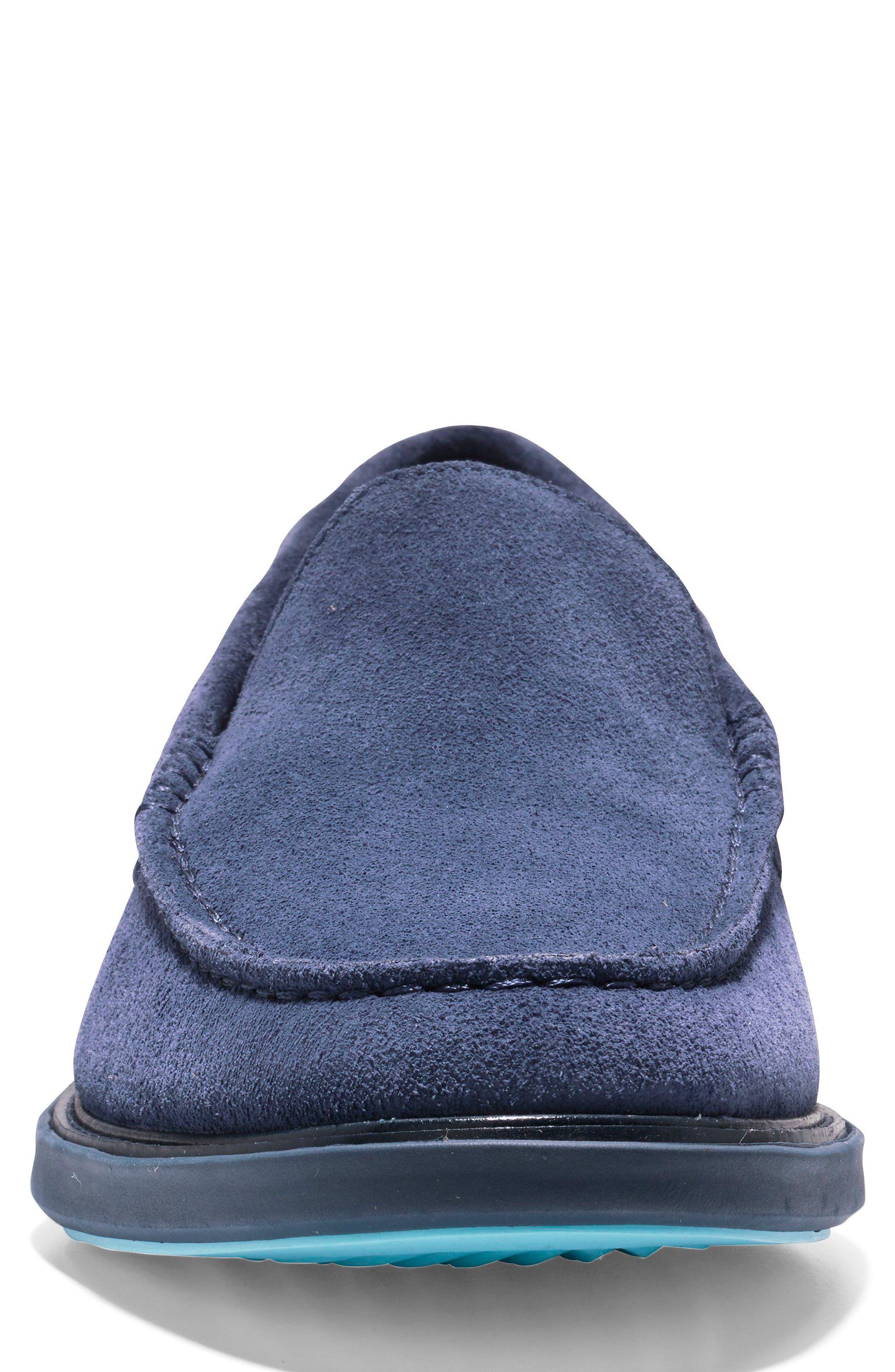 GrandEvølution Venetian Loafer,                             Alternate thumbnail 4, color,                             Marine Blue Suede