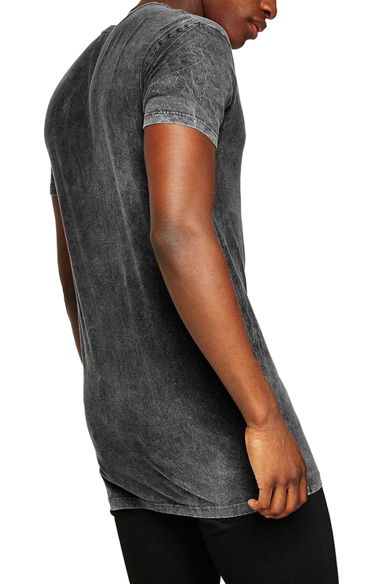 Muscle Fit Longline Tee,                             Alternate thumbnail 2, color,                             Grey