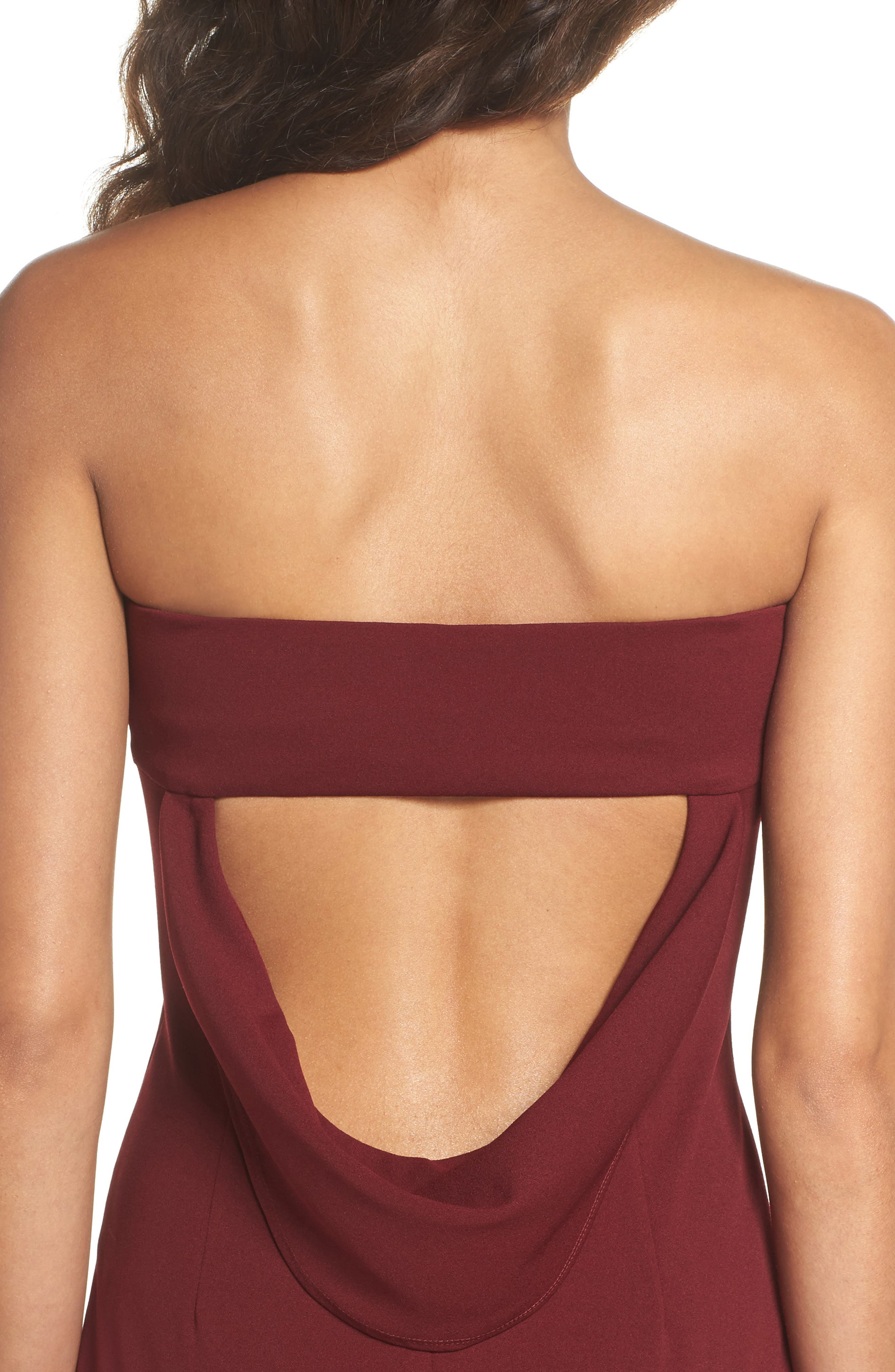 Alternate Image 4  - Katie May Strapless Cutout Back Gown