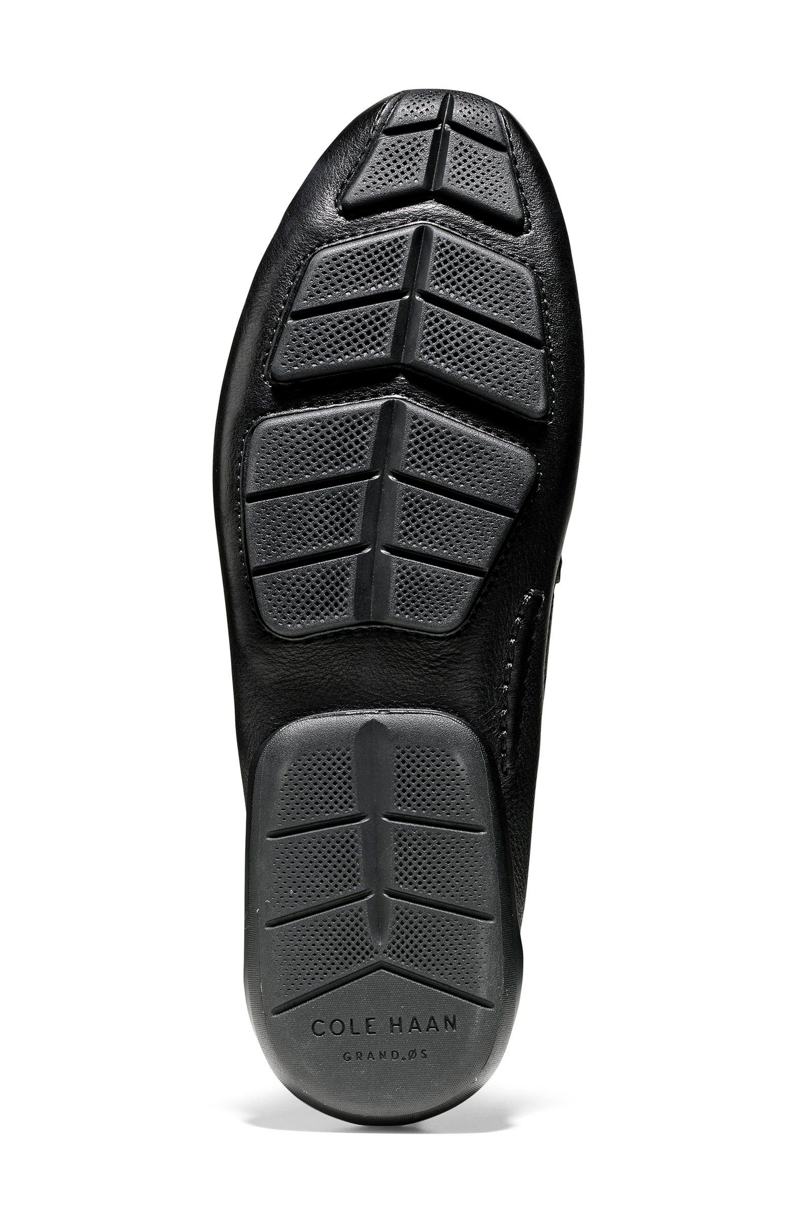 Branson Penny Driver,                             Alternate thumbnail 6, color,                             Black Leather