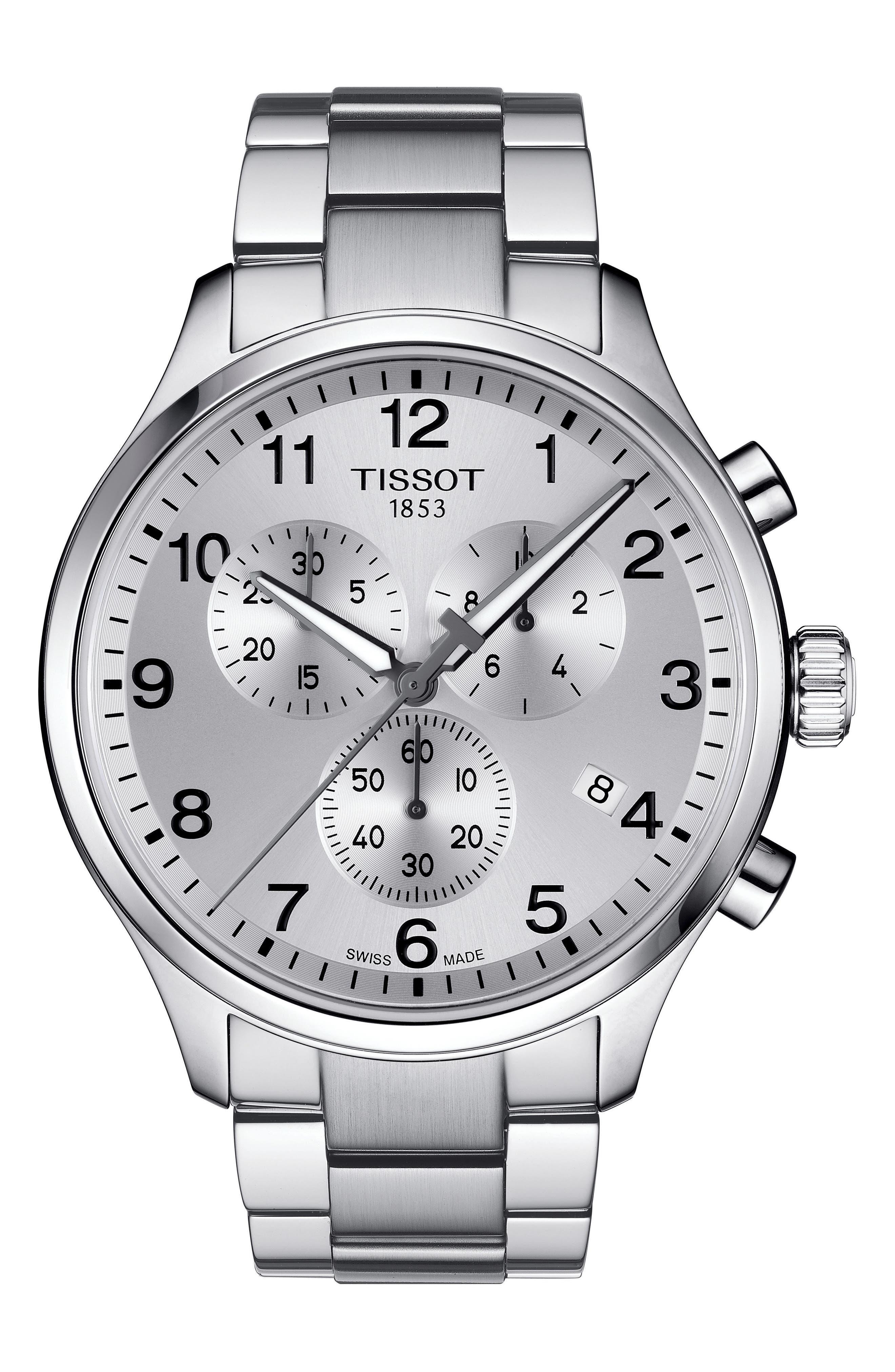 Chrono XL Collection Chronograph Bracelet Watch, 45mm,                         Main,                         color, Silver