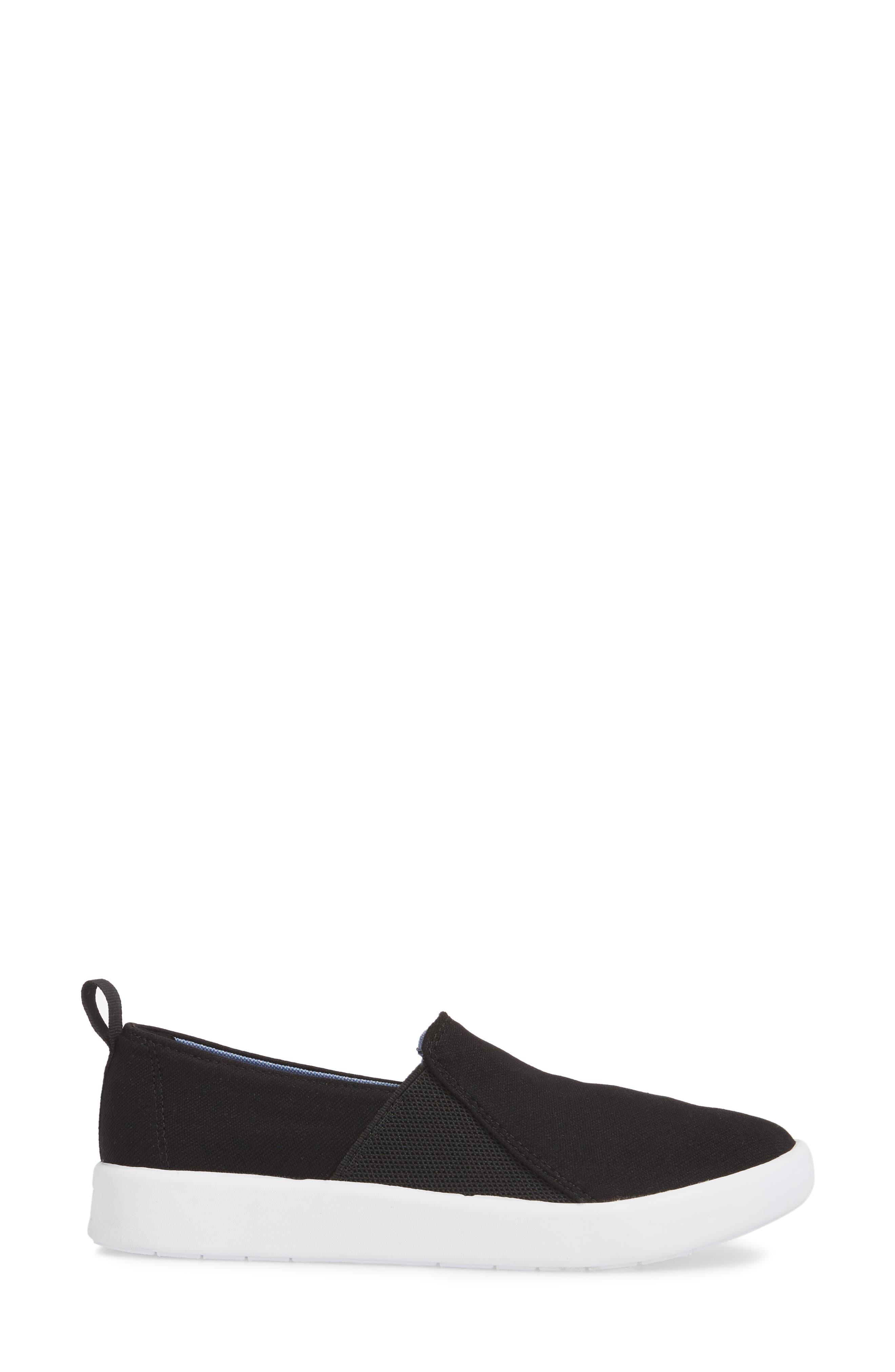 Studio Liv Jersey Slip-On Sneaker,                             Alternate thumbnail 3, color,                             Black
