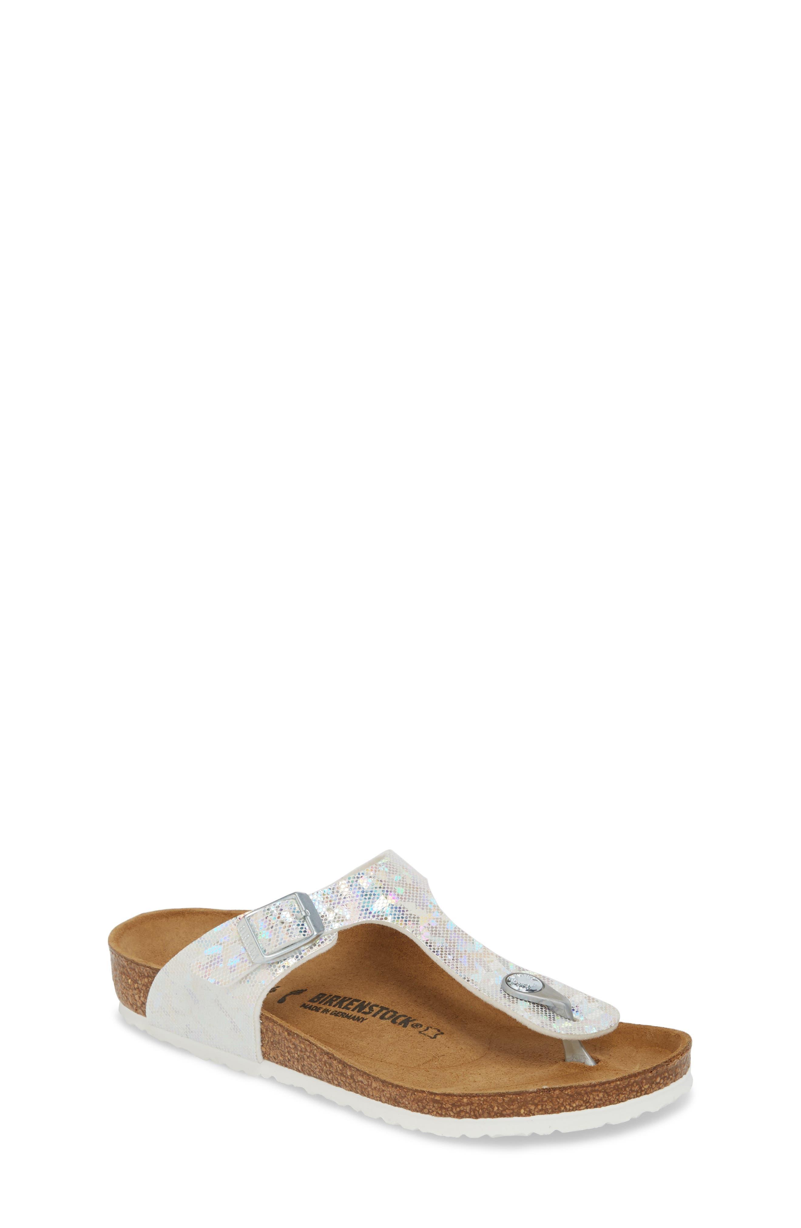 Gizeh Hologram Thong Sandal,                         Main,                         color, Hologram Silver