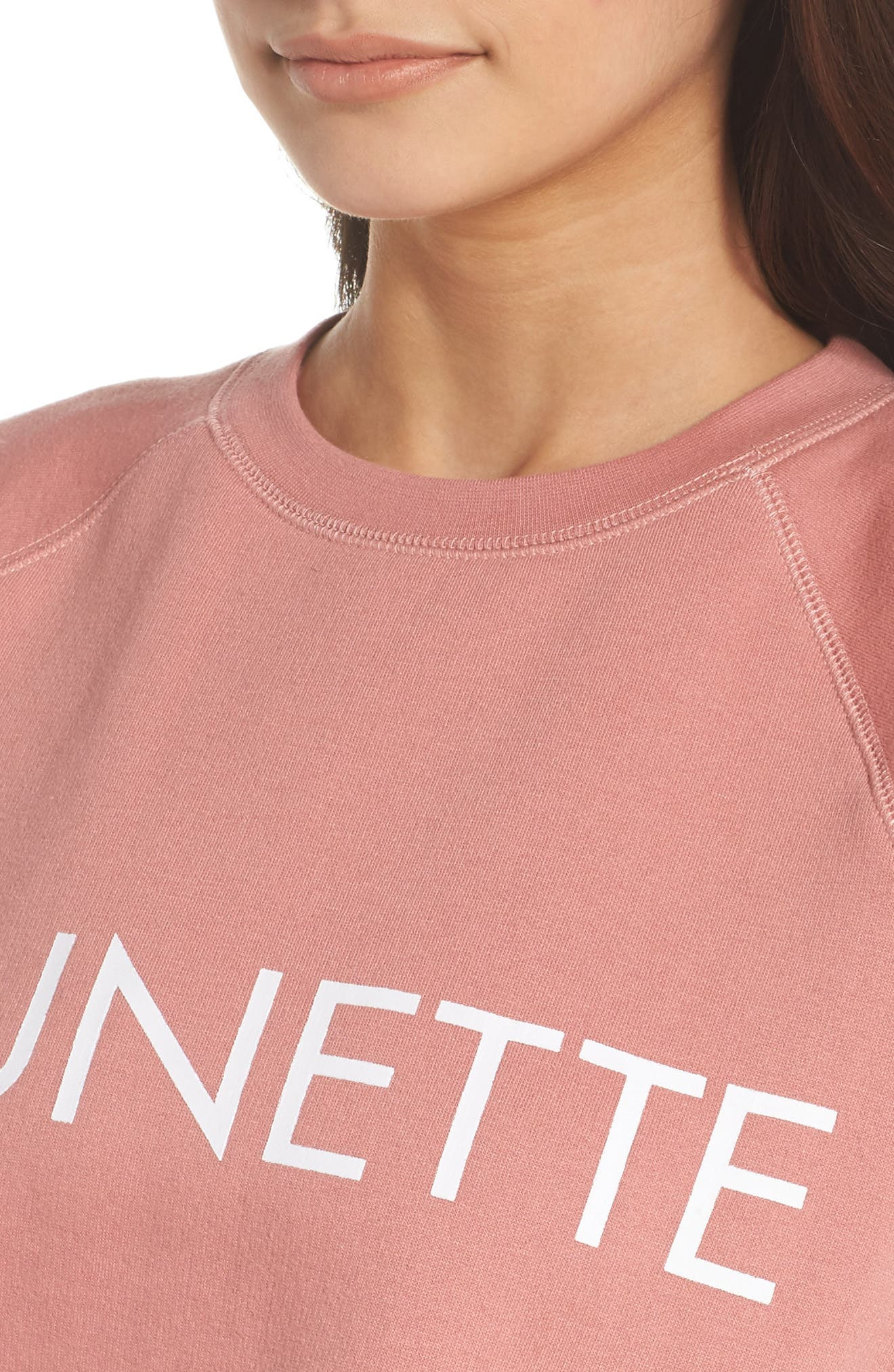 Brunette Crewneck Sweatshirt,                             Alternate thumbnail 5, color,                             Dusty Rose