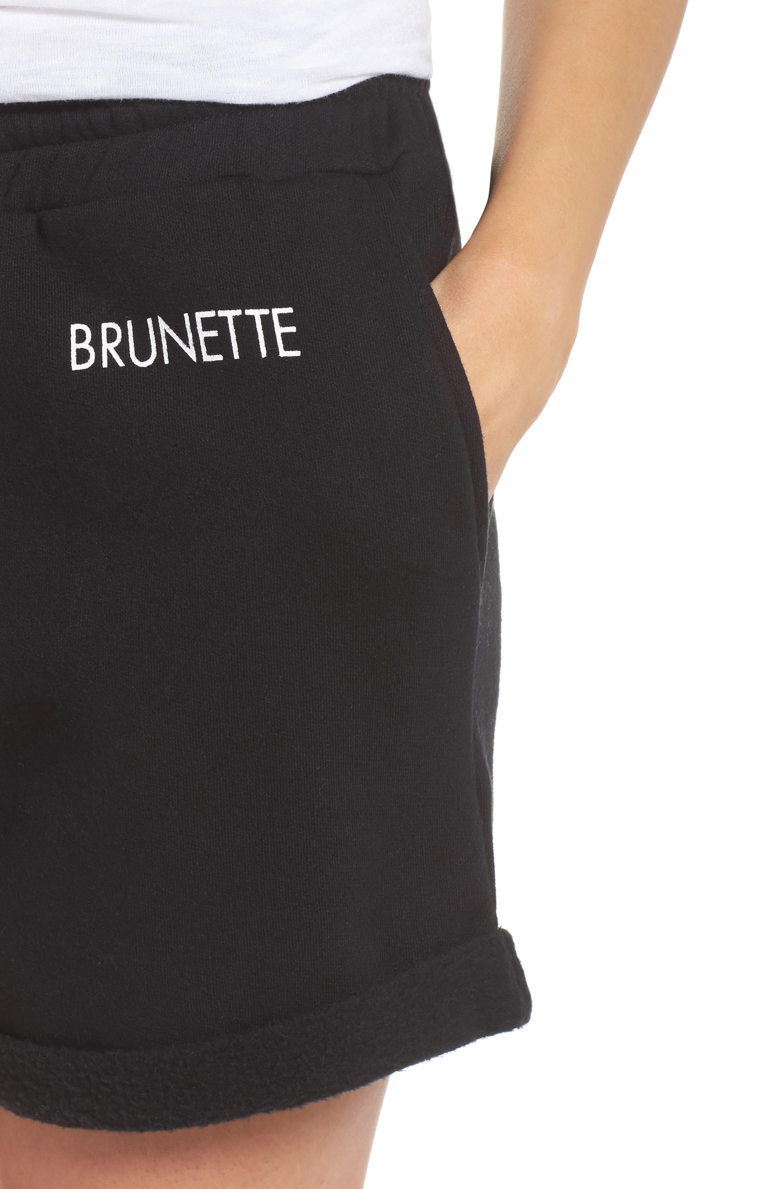 Brunette Shorts,                             Alternate thumbnail 6, color,                             Black