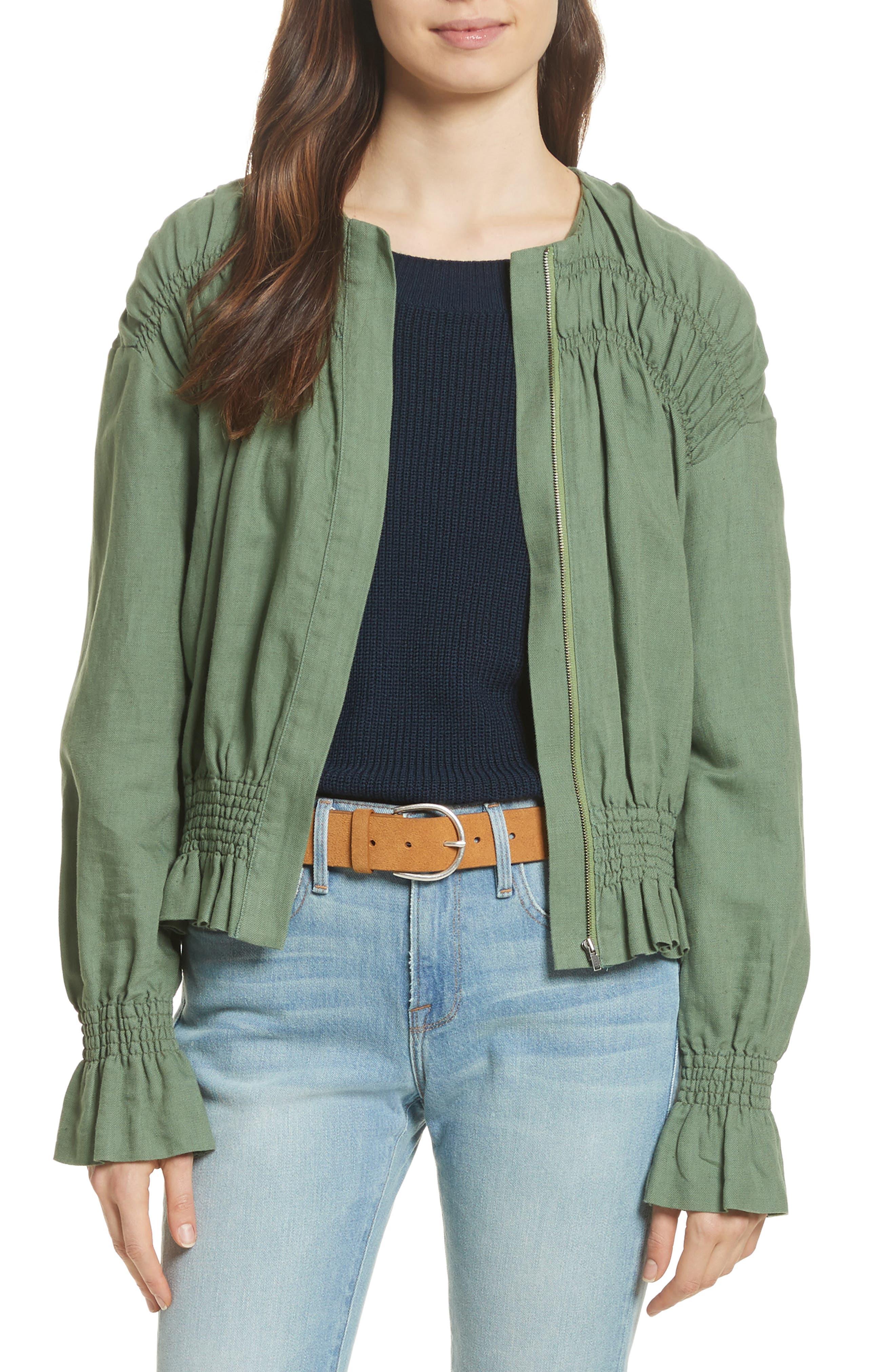 Alternate Image 1 Selected - FRAME Smocked Jacket