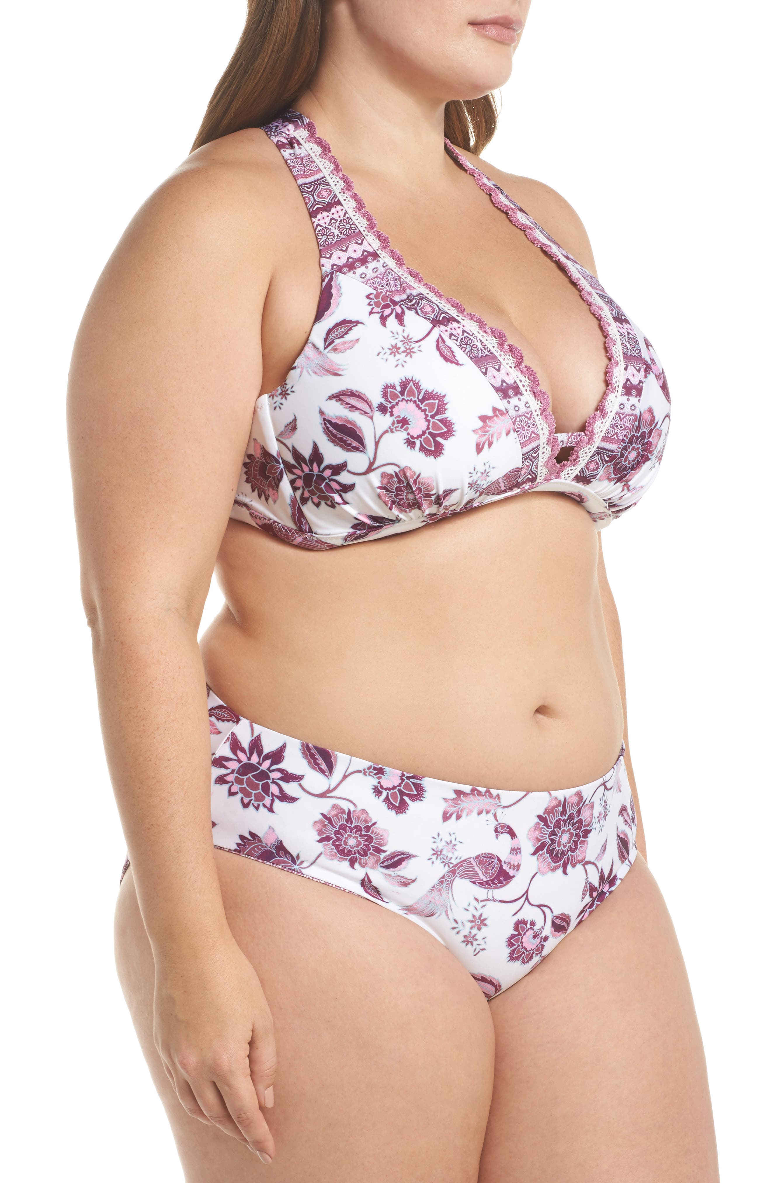 Tahiti Halter Bikini Top,                             Alternate thumbnail 7, color,                             Purple Multi