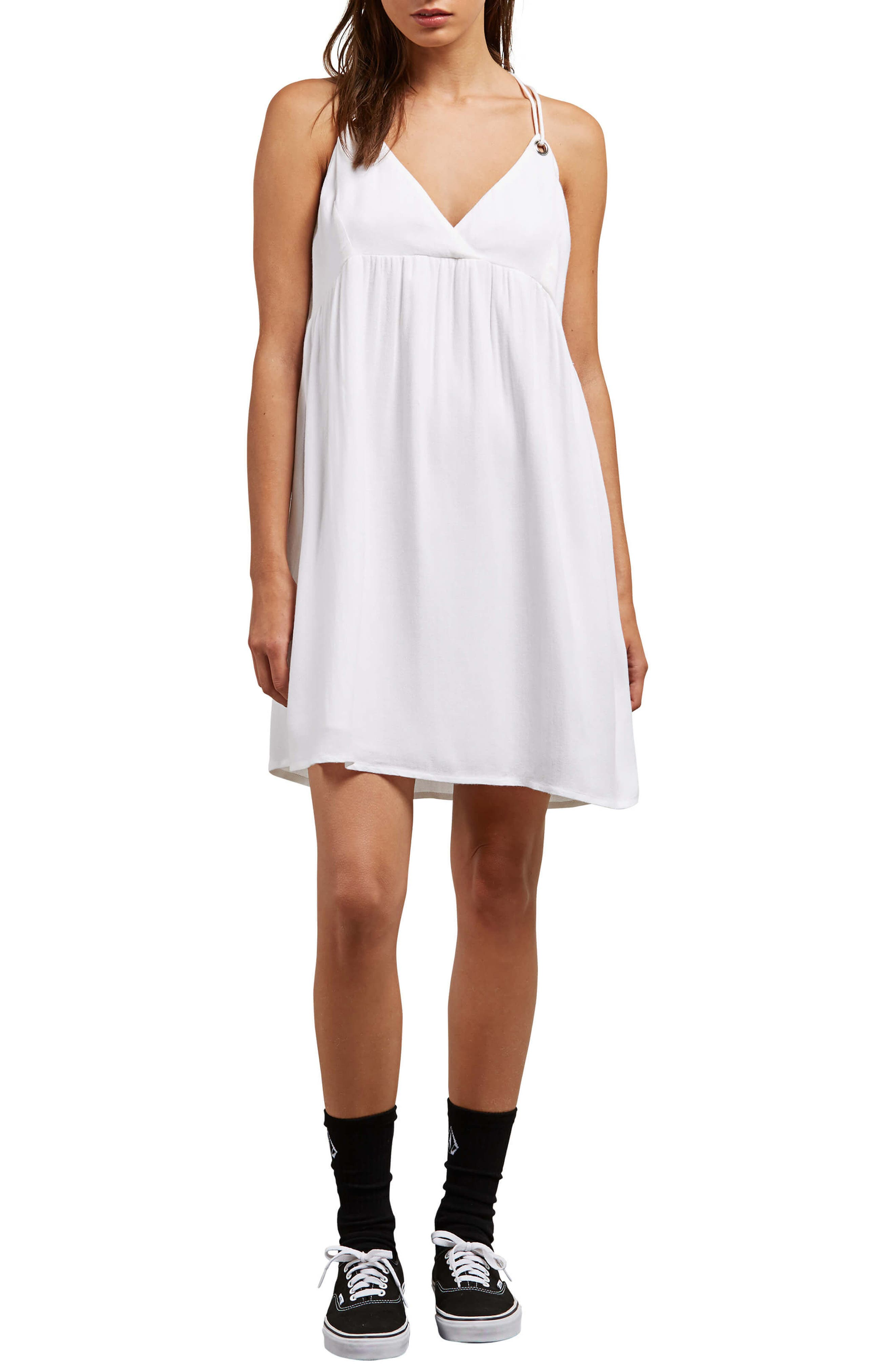 You Want This Strappy Dress,                         Main,                         color, White