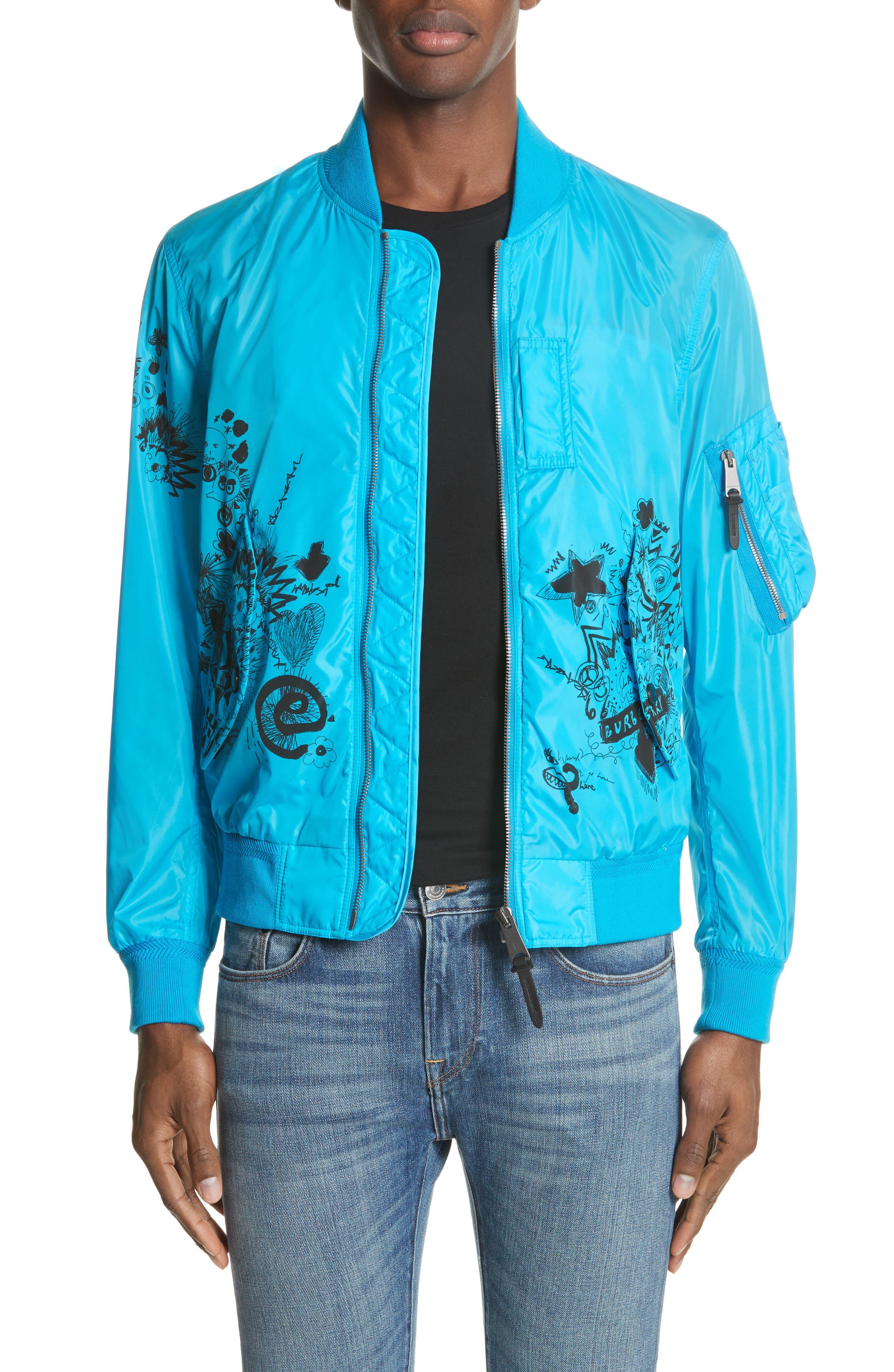 Brinkley Standard Fit Jacket,                             Main thumbnail 1, color,                             Bright Blue