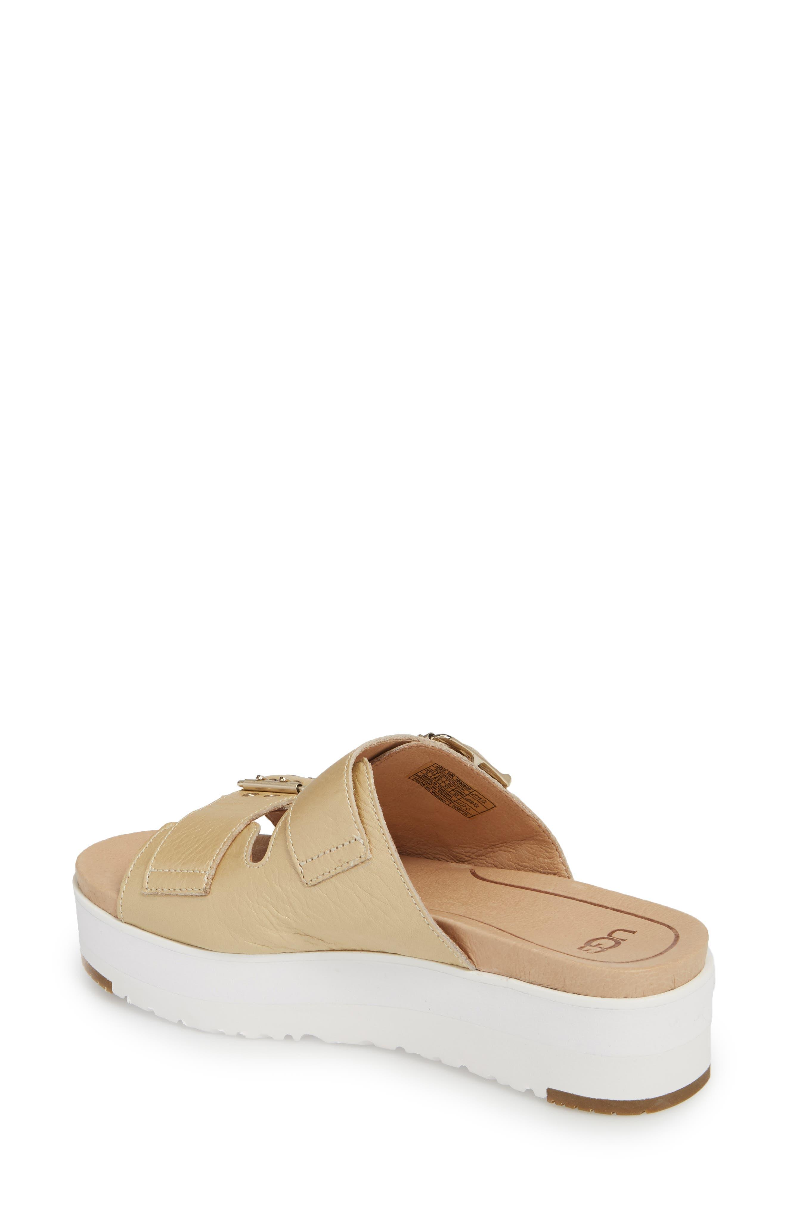 Cammie Platform Sandal,                             Alternate thumbnail 2, color,                             Gold Patent Leather