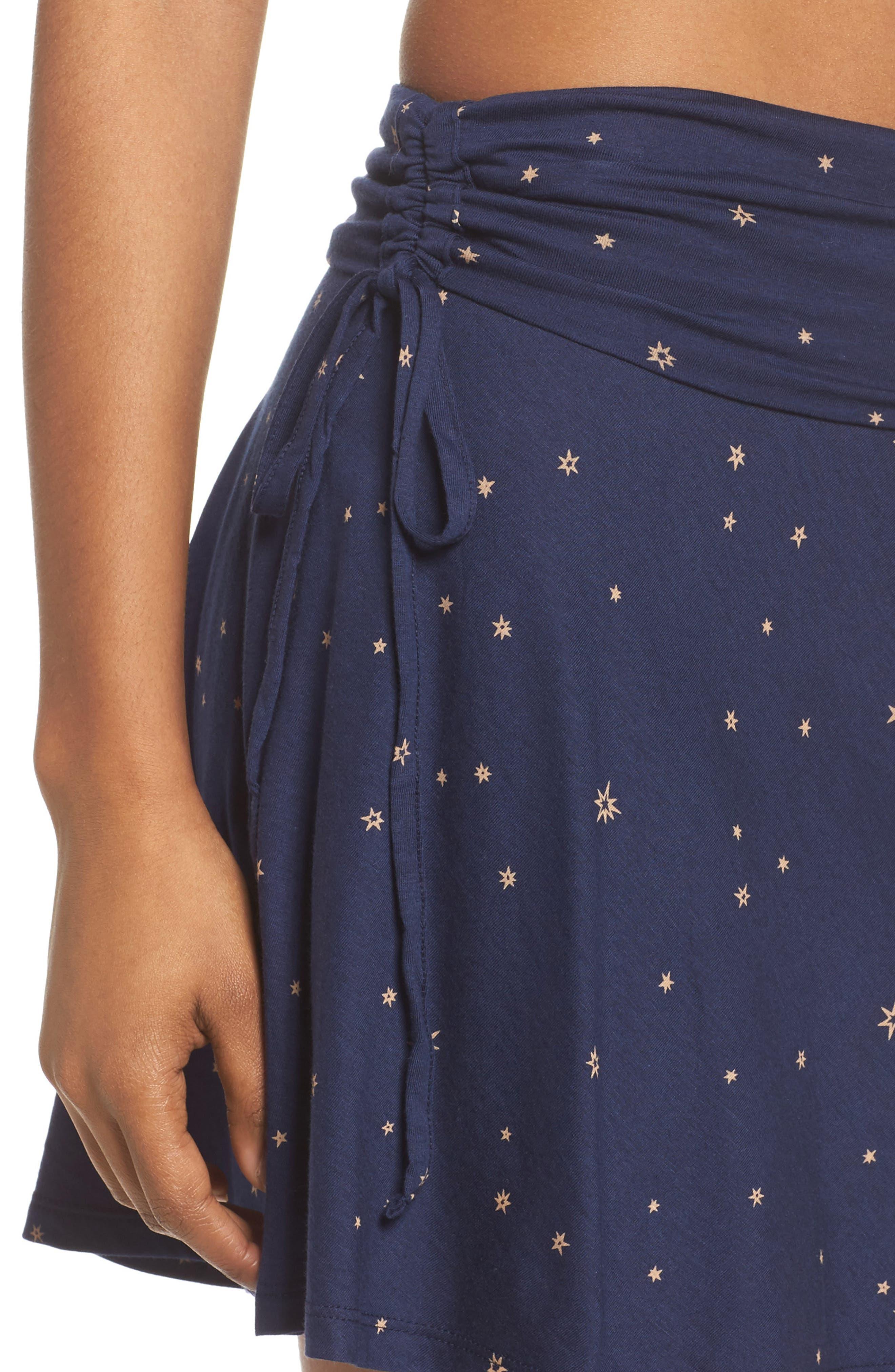 Lithia Cotton Blend Skirt,                             Alternate thumbnail 4, color,                             Micr Mica Pop Classic Navy