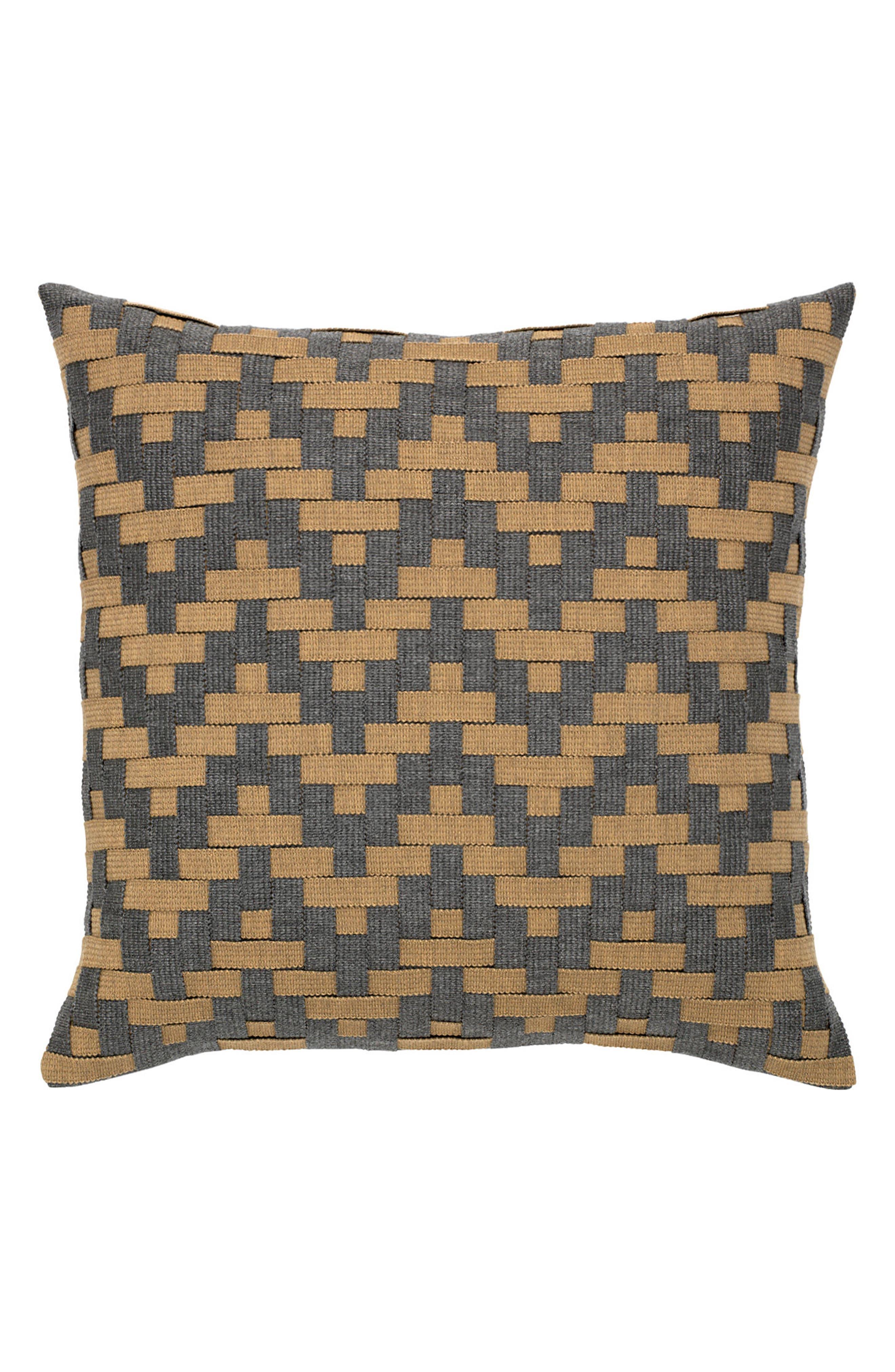 Main Image - Elaine Smith Smoke Basket Weave Indoor/Outdoor Accent Pillow