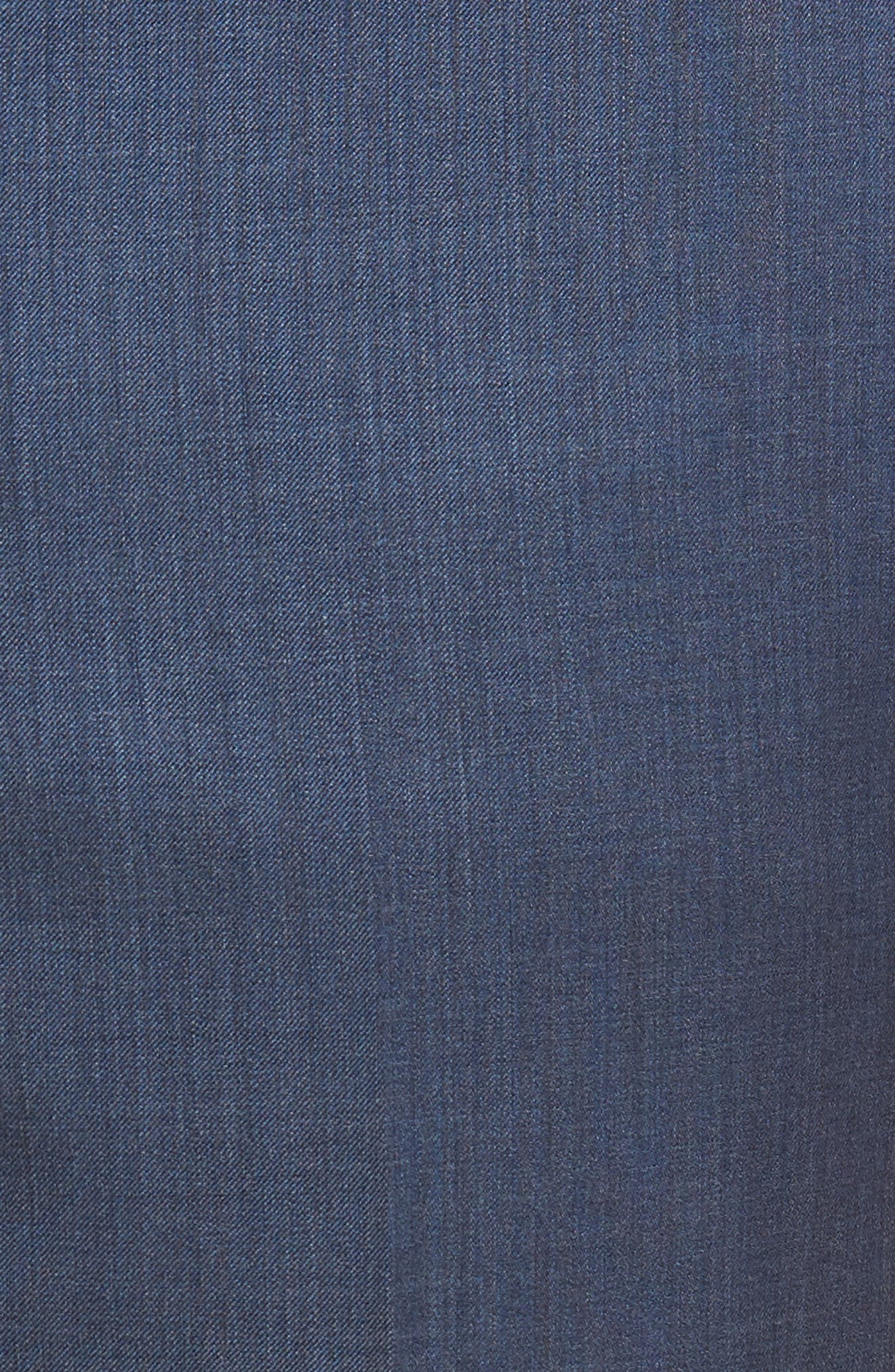 Alternate Image 7  - Zanella Devon Flat Front Solid Wool Serge Trousers