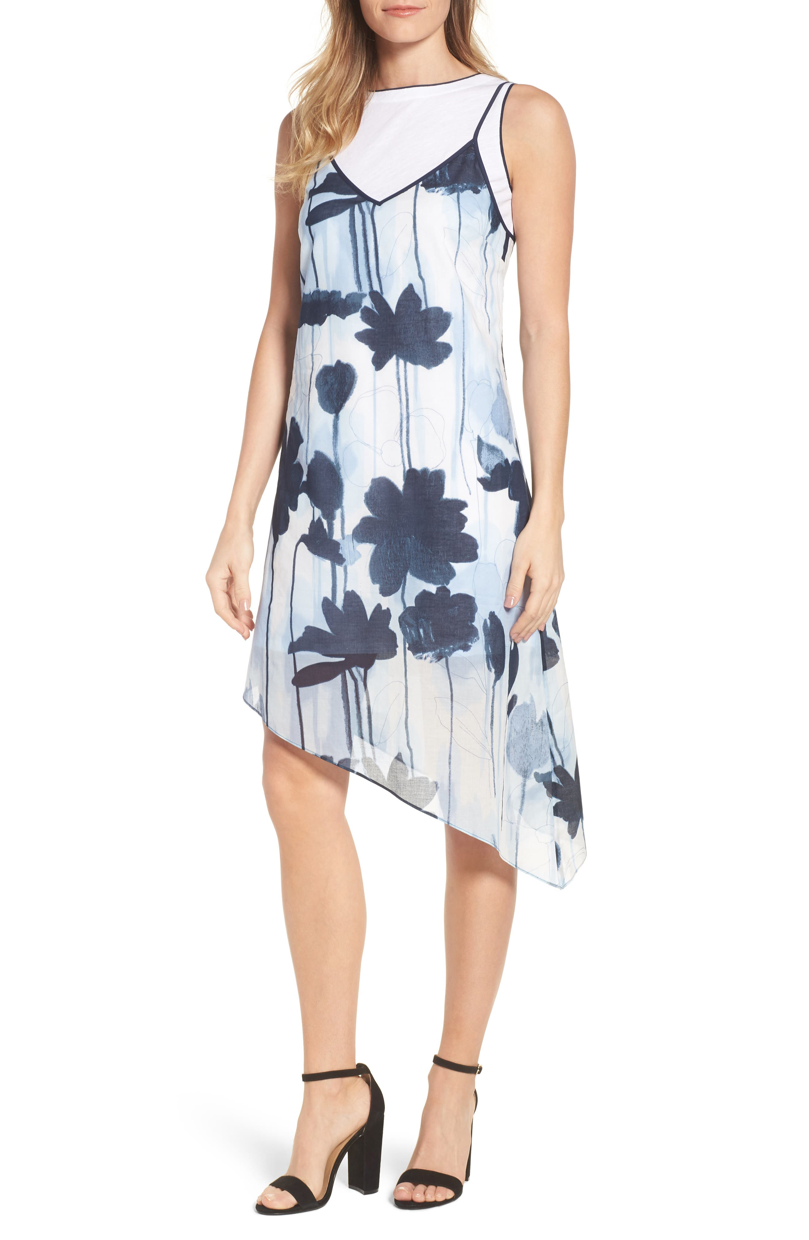 Kenneth Cole New York Two Layer Dress