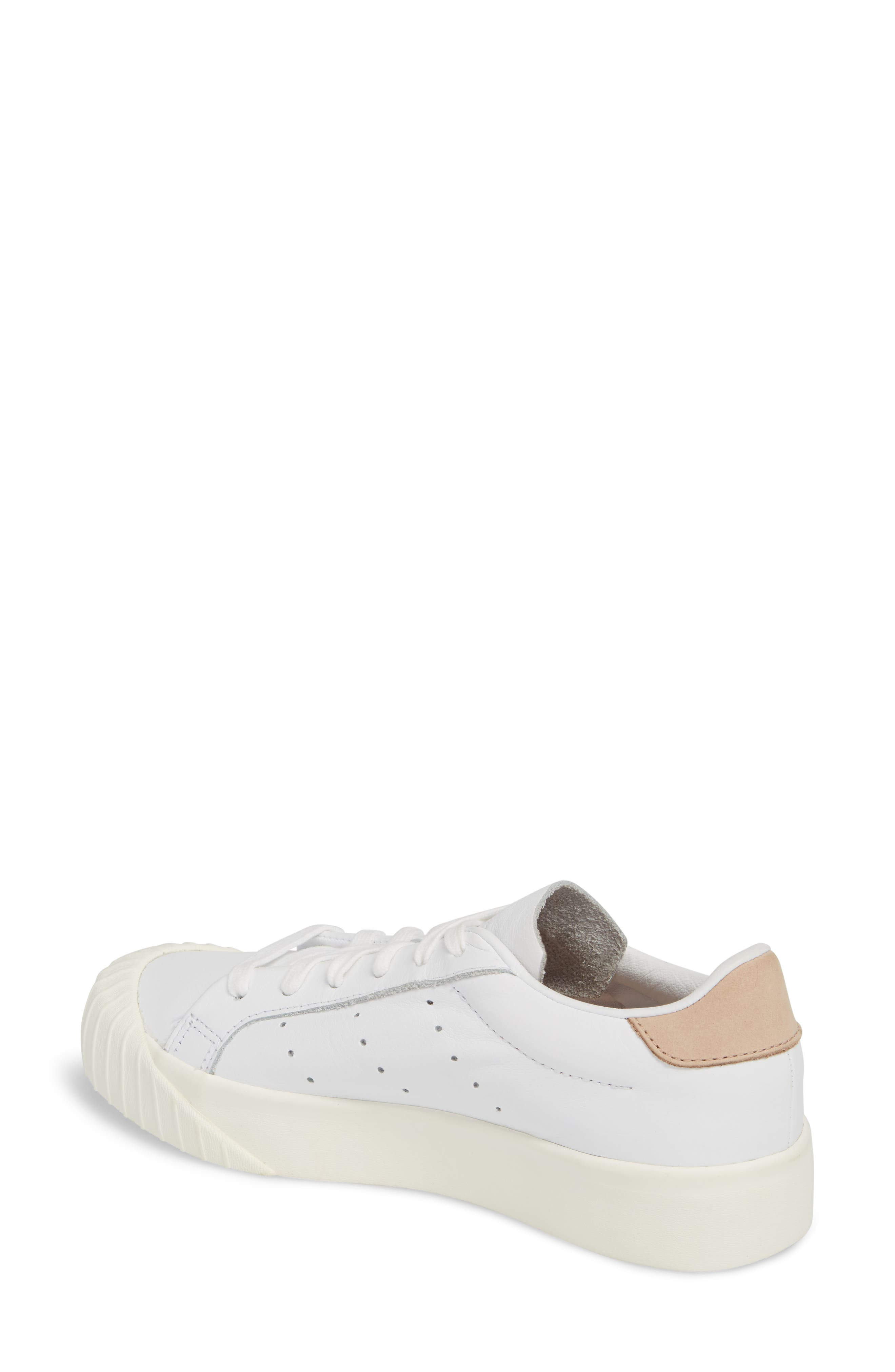 Everyn Perforated Low Top Sneaker,                             Alternate thumbnail 2, color,                             White/ White/ Ash Pearl