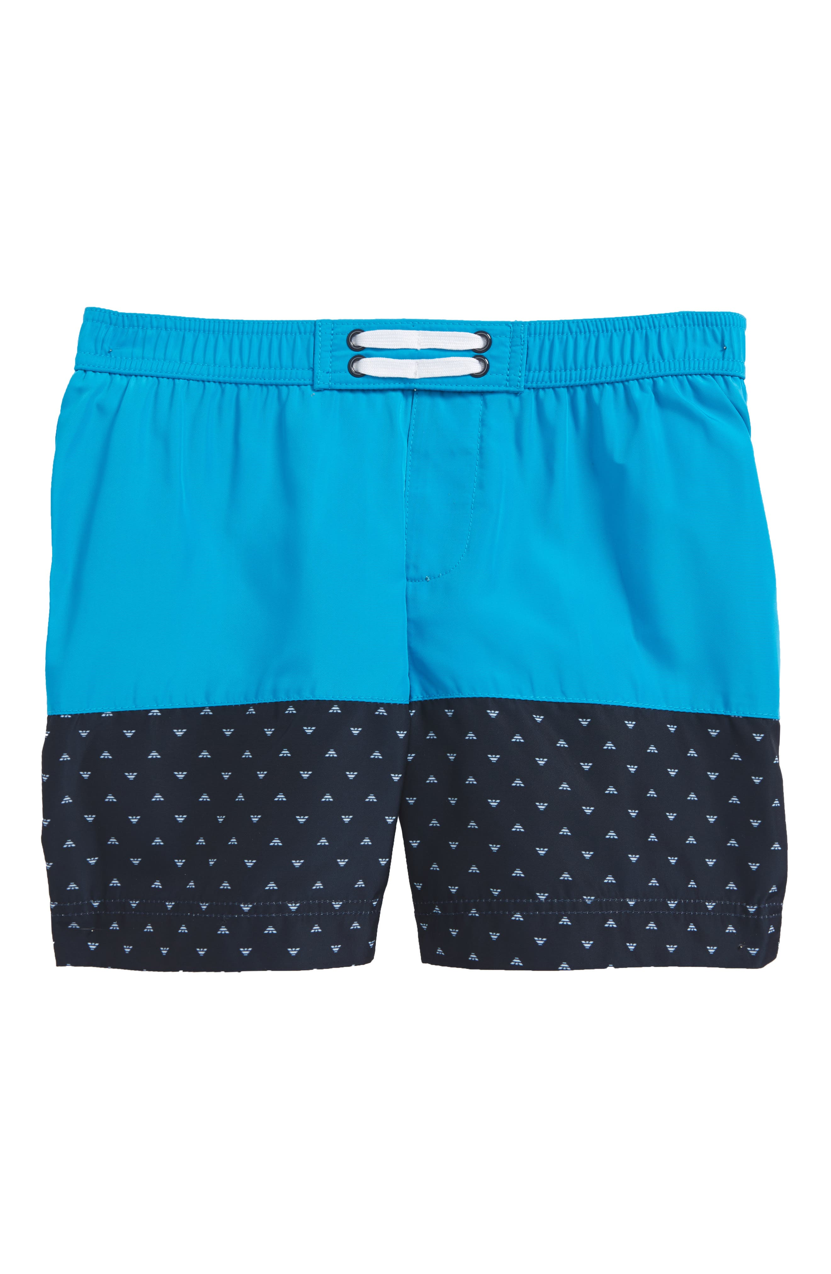 Logo Swim Trunks,                         Main,                         color, Turquoise