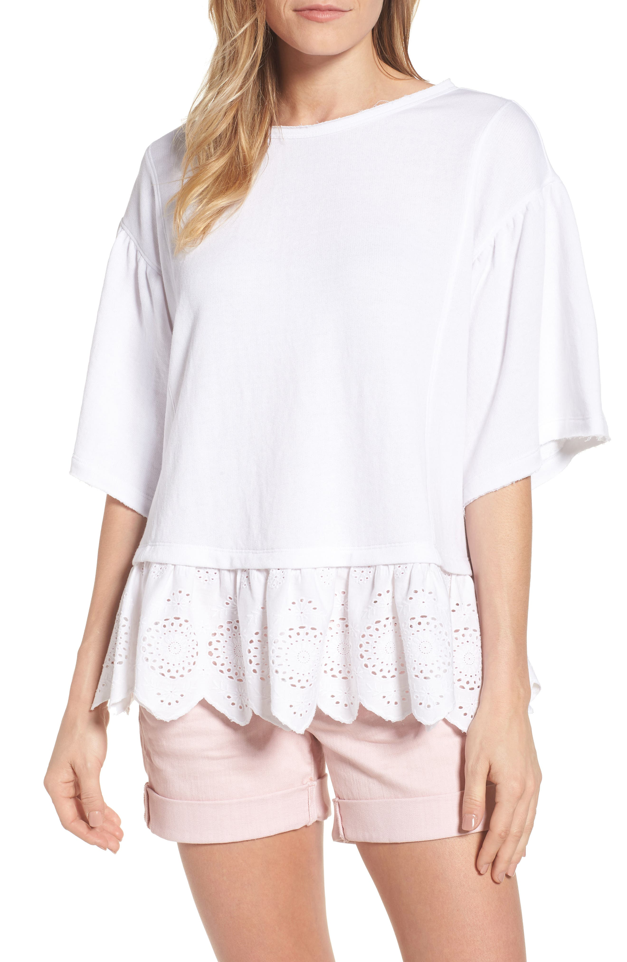 Caslon® Twofer Sweatshirt (Regular & Petite)