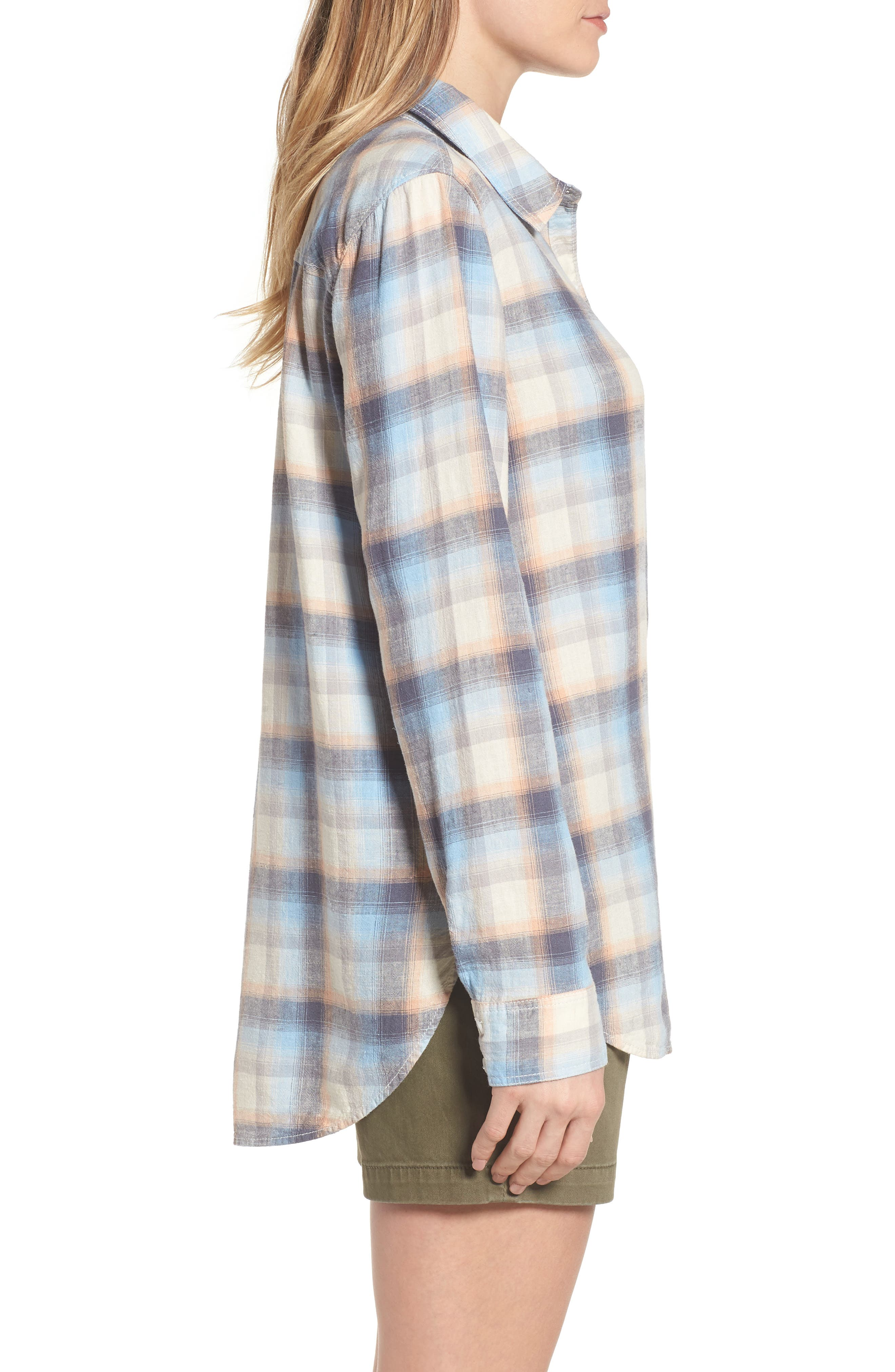 Alternate Image 3  - Caslon® Plaid Linen Blend Shirt