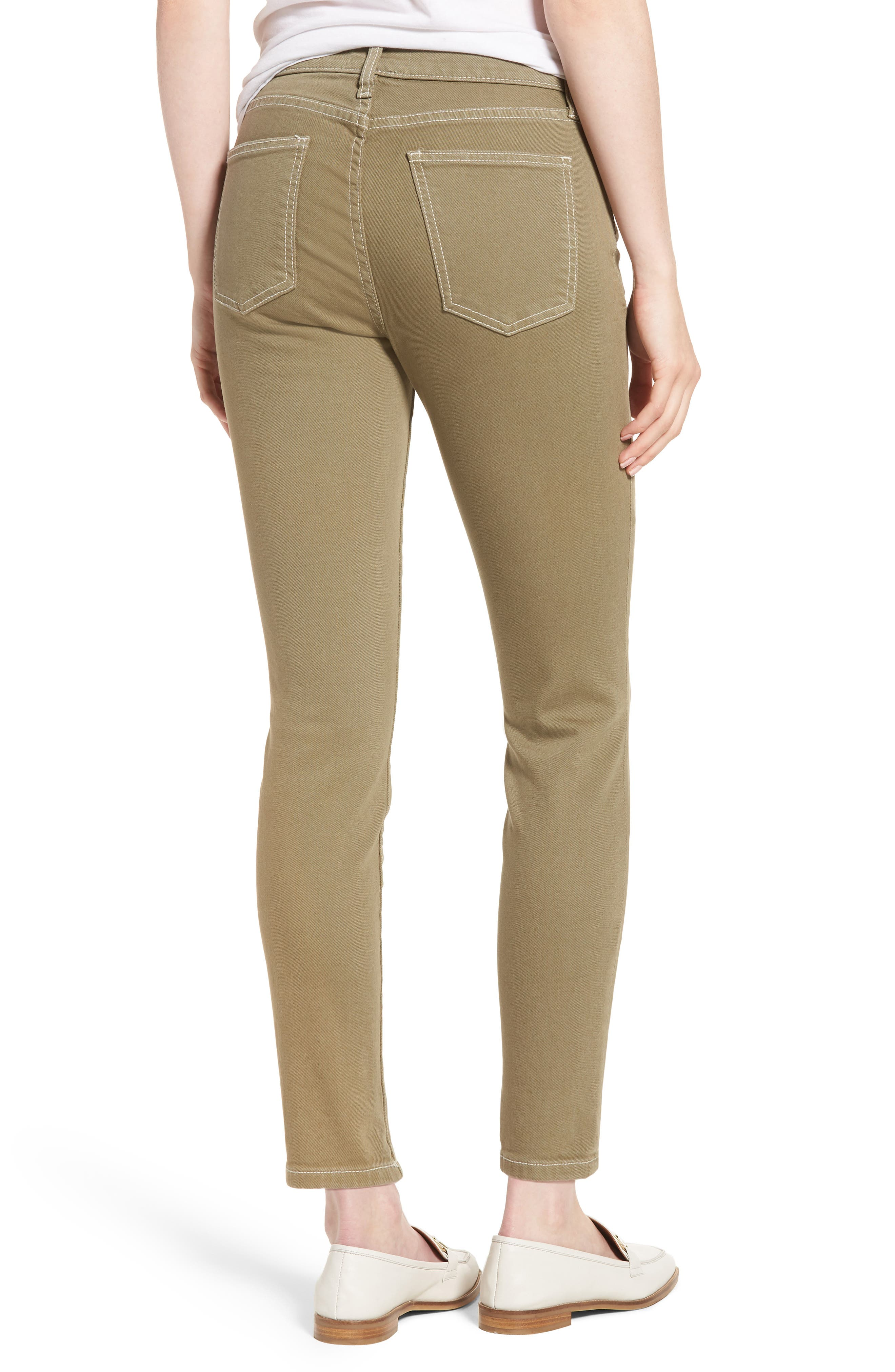 The Stiletto Ankle Skinny Jeans,                             Alternate thumbnail 2, color,                             Covert Green