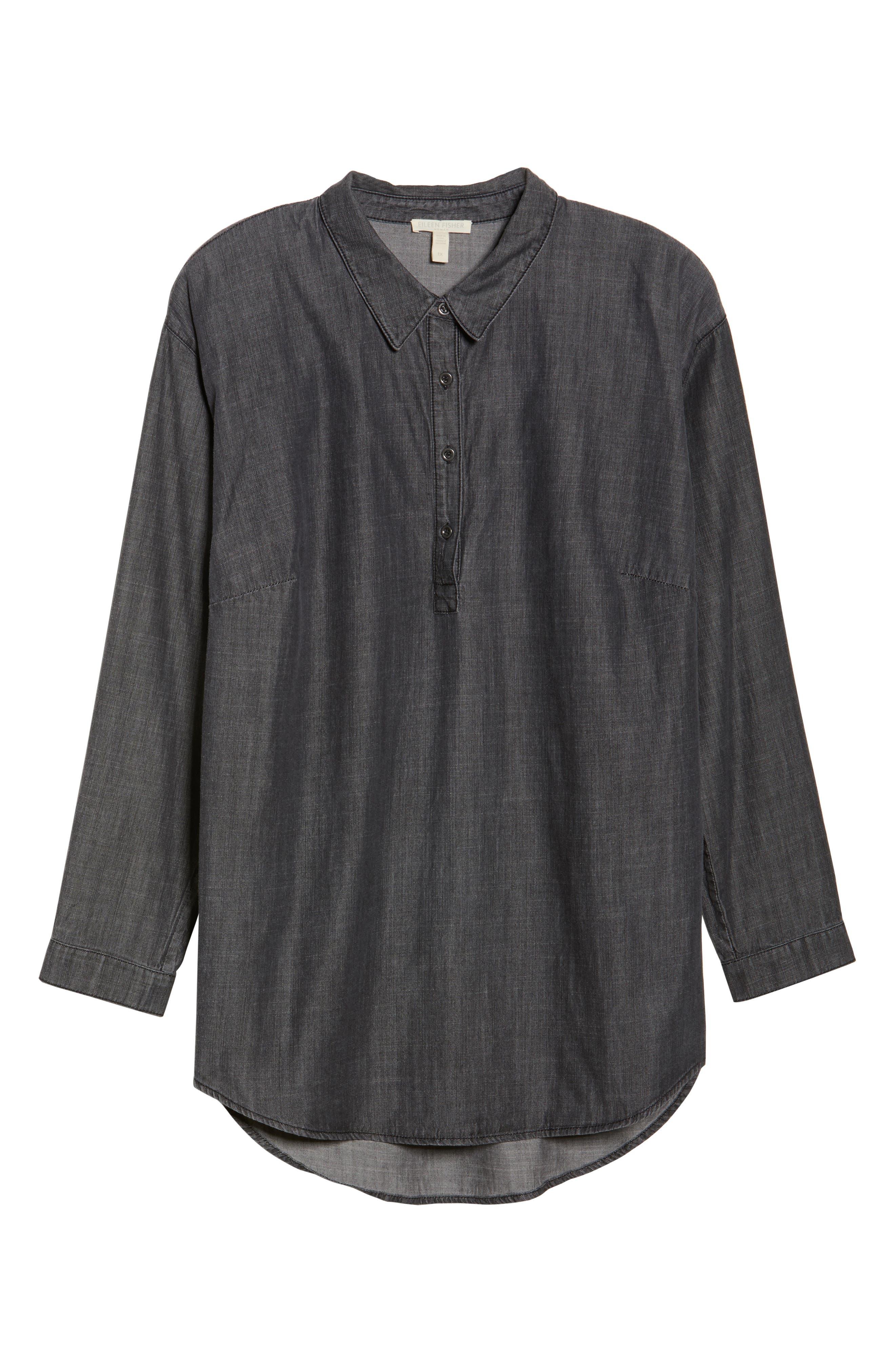 Classic Collar Shirt,                             Alternate thumbnail 6, color,                             Black