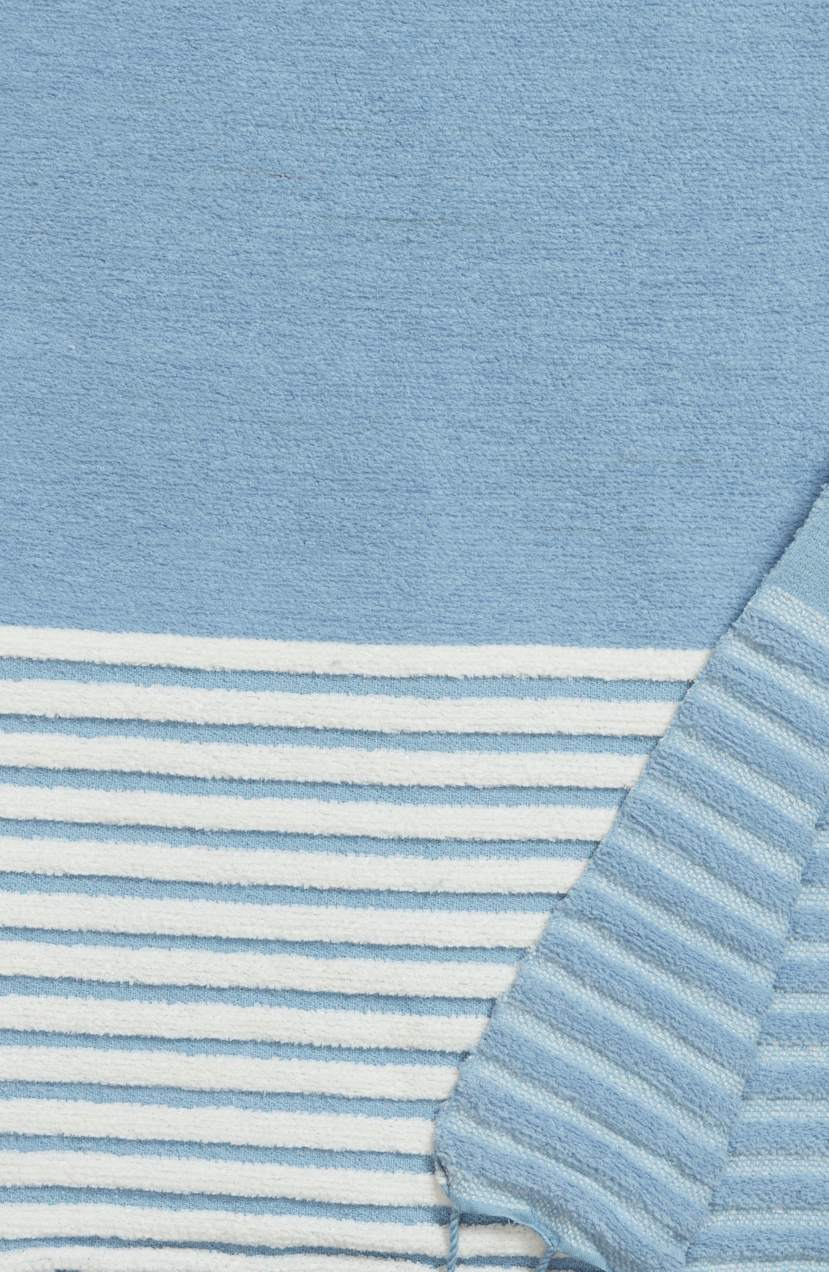 Hammam Stripe Throw,                             Alternate thumbnail 2, color,                             Blue Drizzle