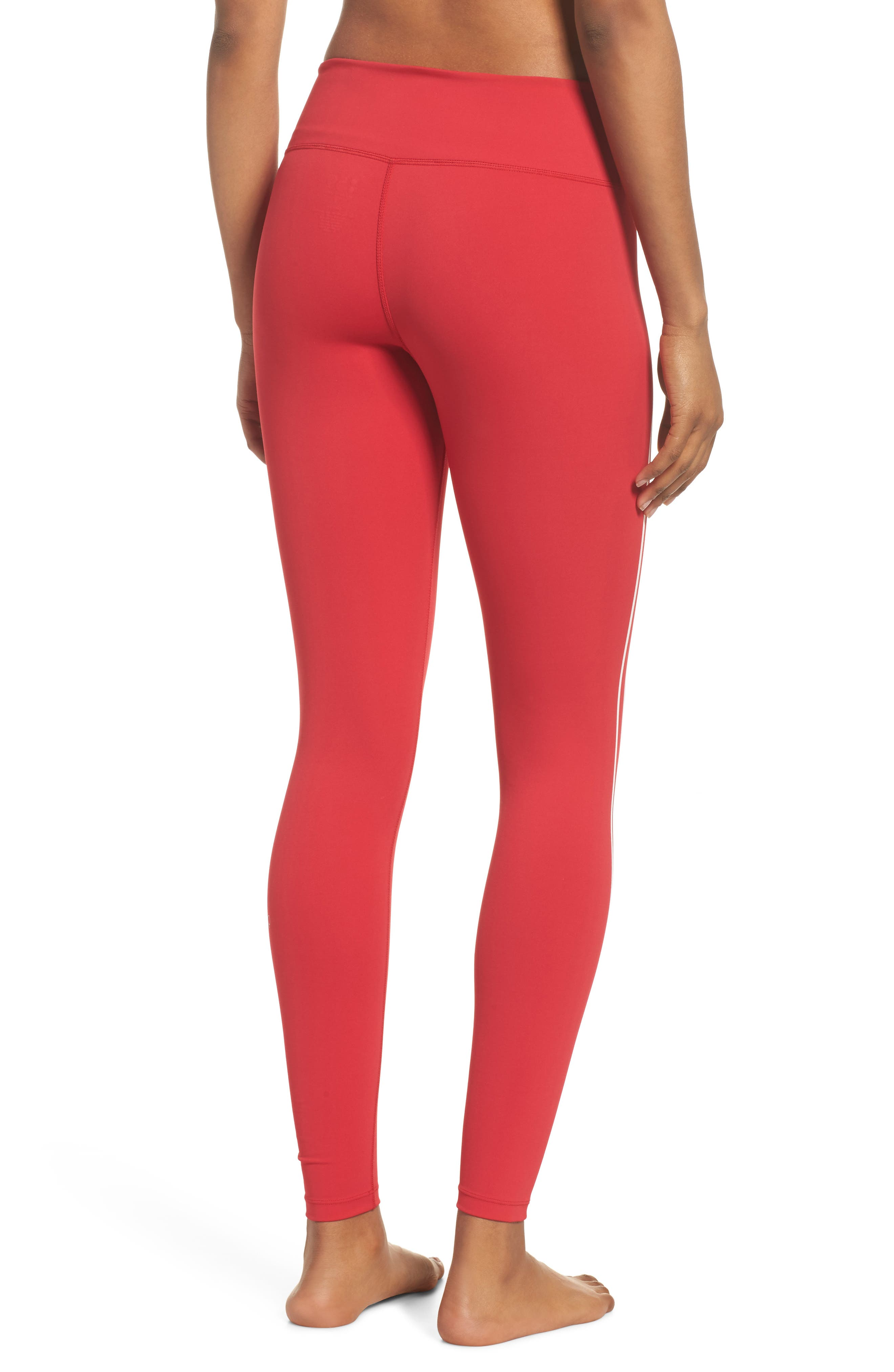 Distance Tights,                             Alternate thumbnail 2, color,                             Havana Red/ Off White