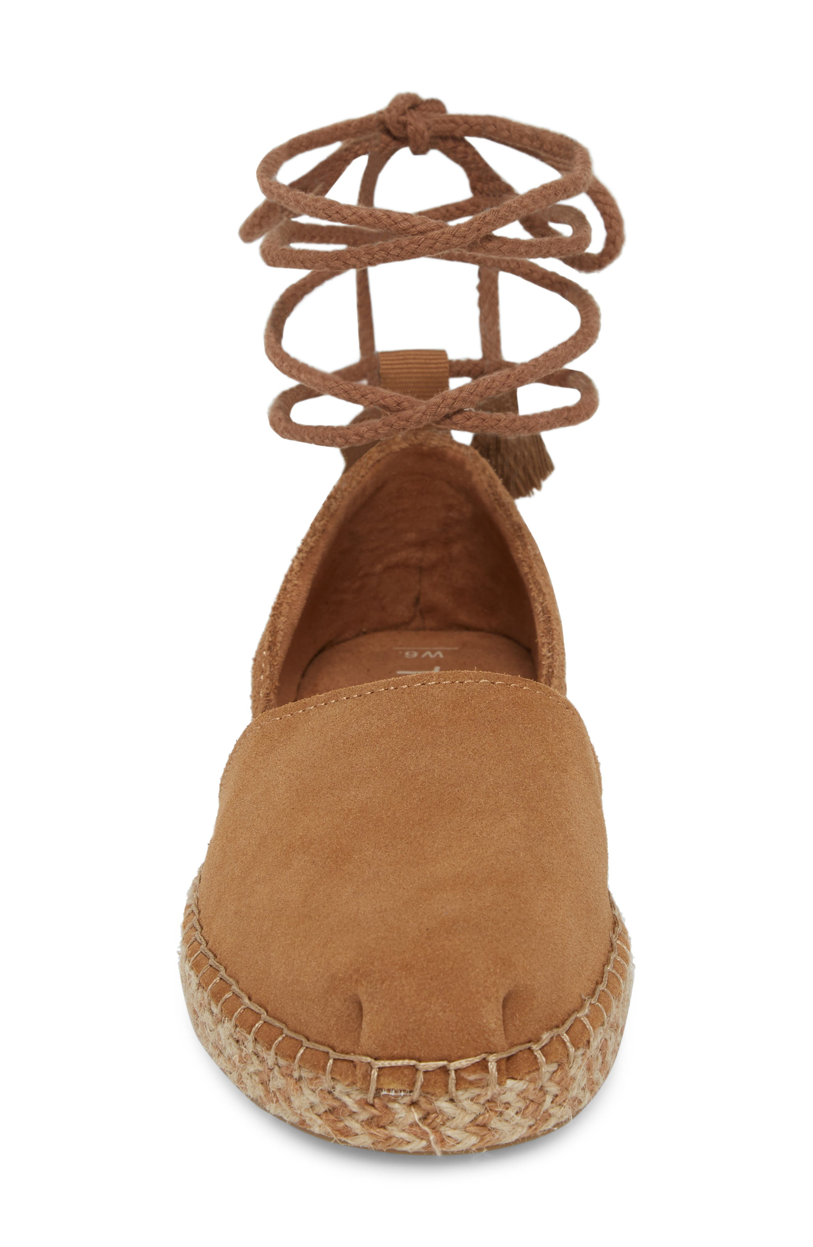 Katalina Espadrille,                             Alternate thumbnail 4, color,                             Toffee Suede