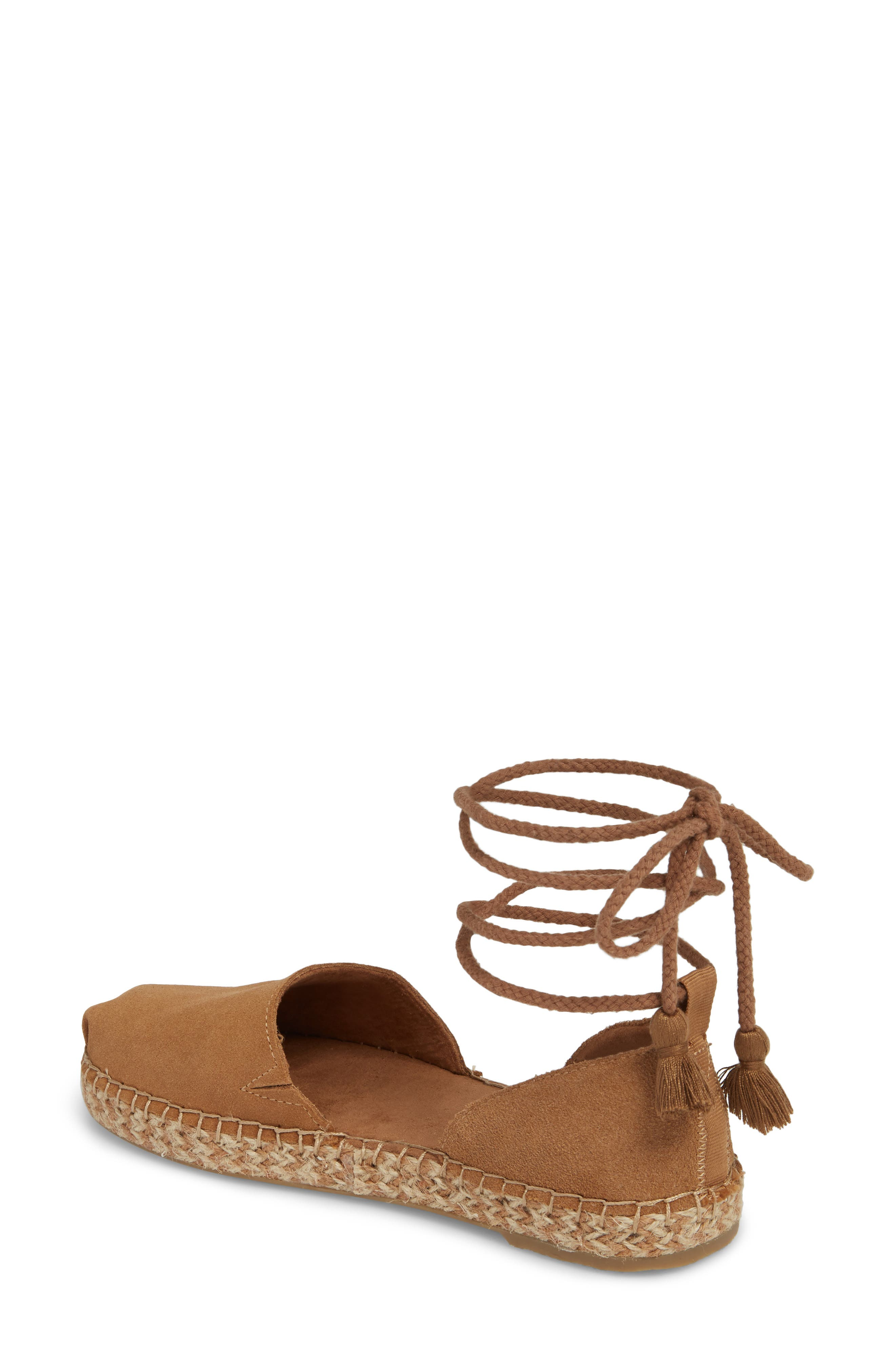 Katalina Espadrille,                             Alternate thumbnail 2, color,                             Toffee Suede