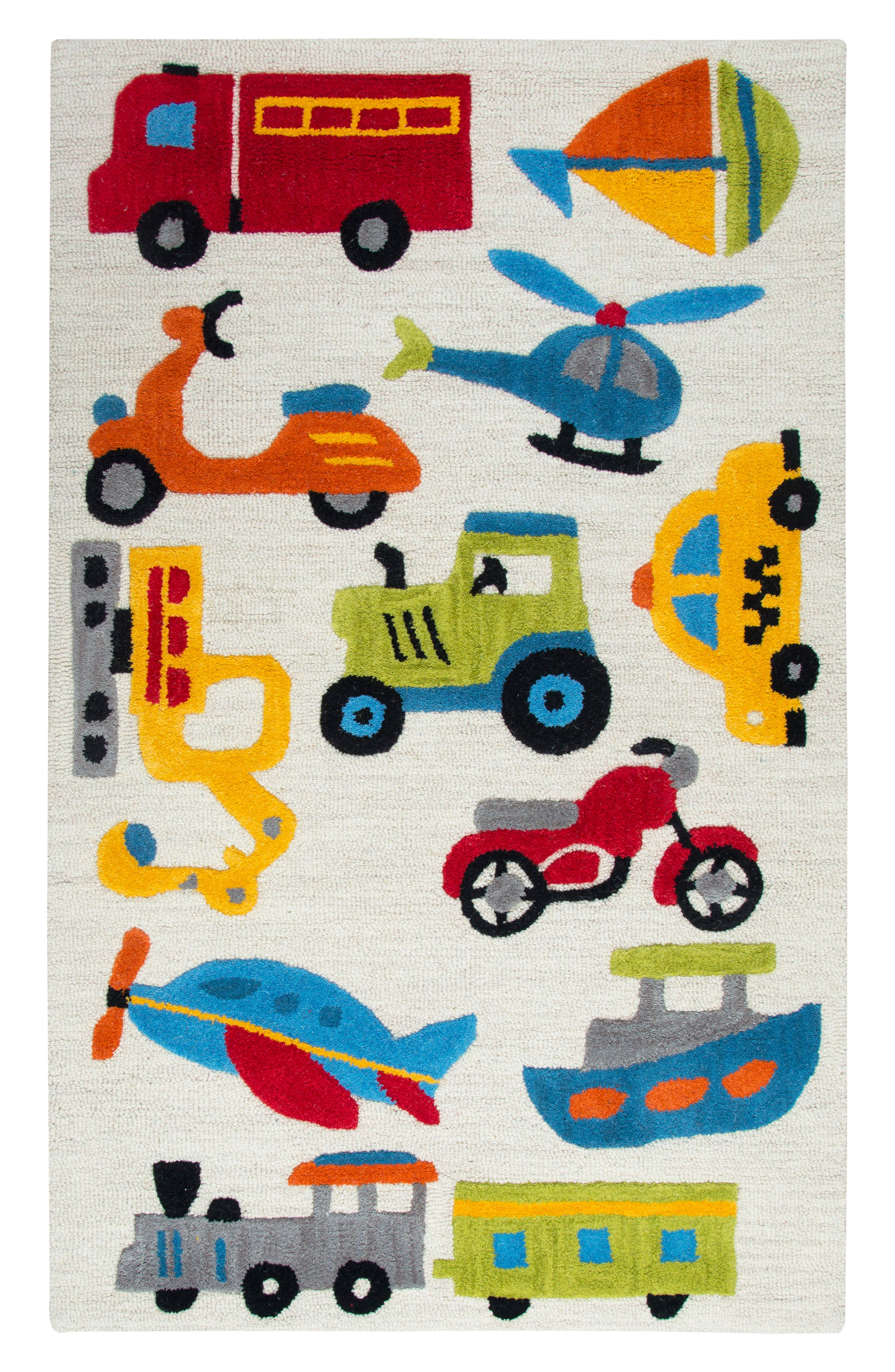 Play Day Motor Rug,                         Main,                         color, Ivory