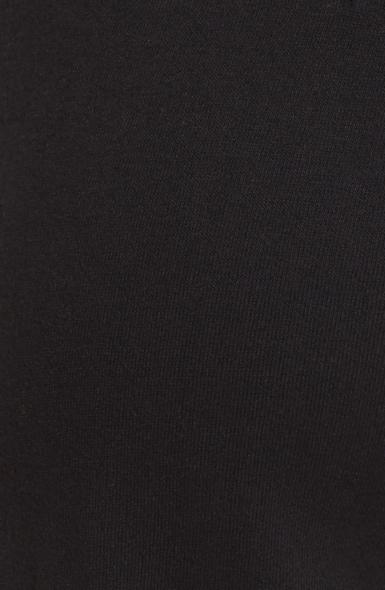 Stripe Trim Step Hem Sweatpants,                             Alternate thumbnail 6, color,                             Black