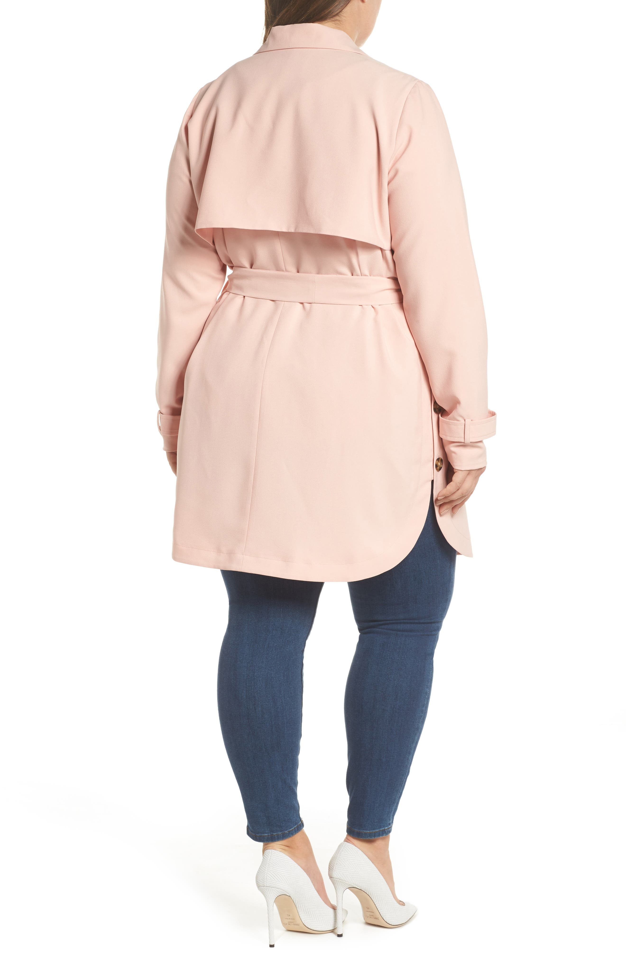 Marina Trench Coat,                             Alternate thumbnail 2, color,                             Coral Cloud