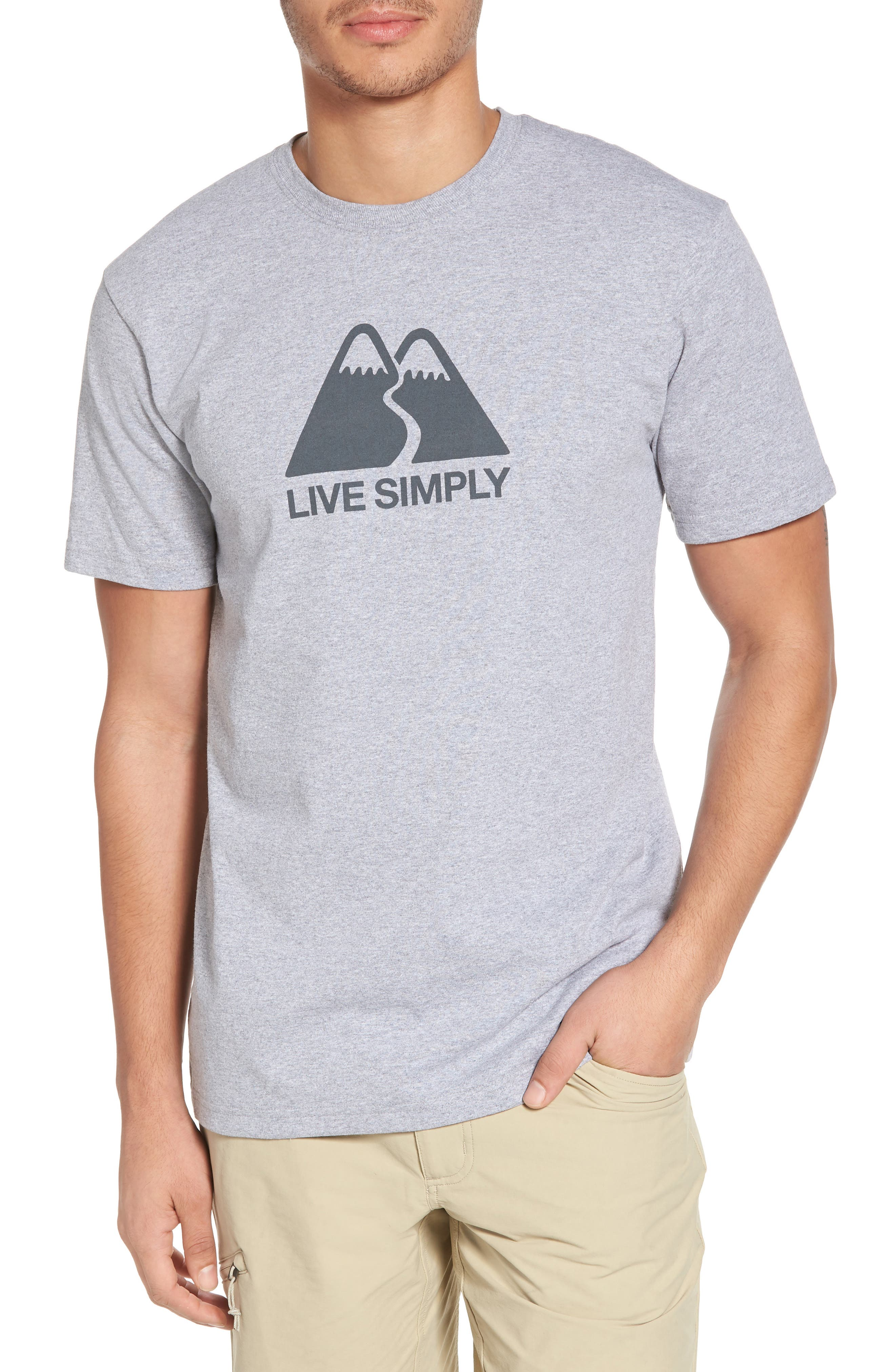Live Simply<sup>®</sup> Winding Graphic Responsibili-Tee T-Shirt,                         Main,                         color, Drifter Grey
